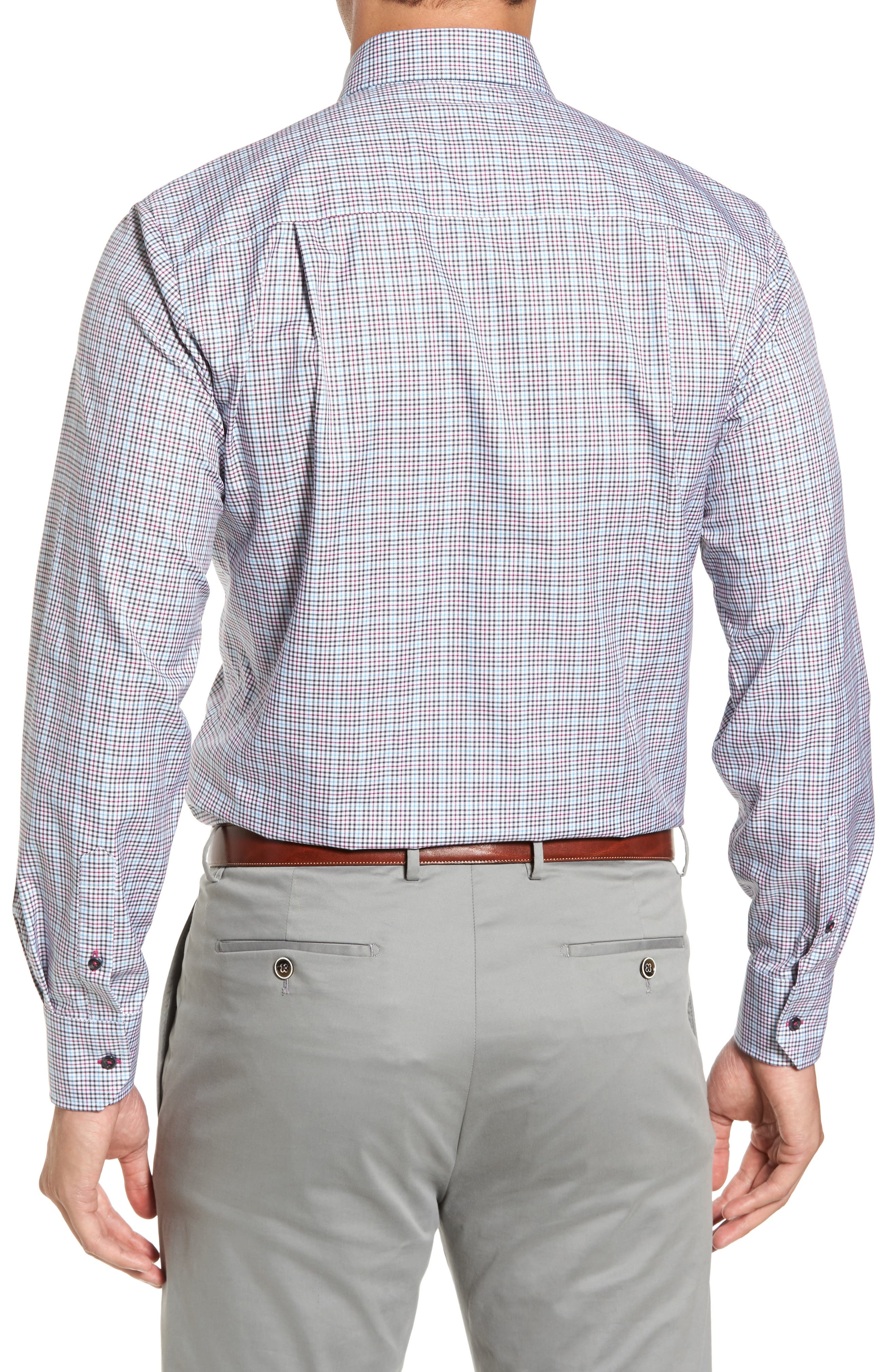 Regular Fit Plaid Sport Shirt,                             Alternate thumbnail 2, color,                             020