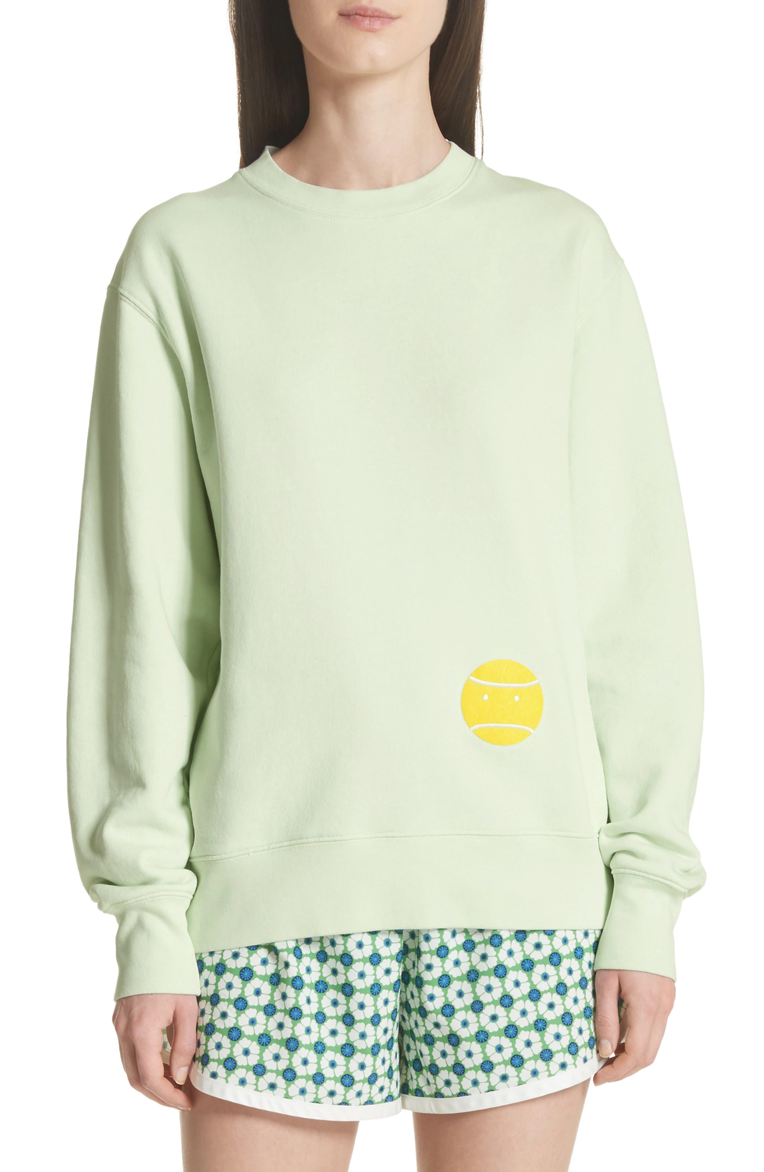 Tory Sport Little Grump French Terry Sweatshirt, Green