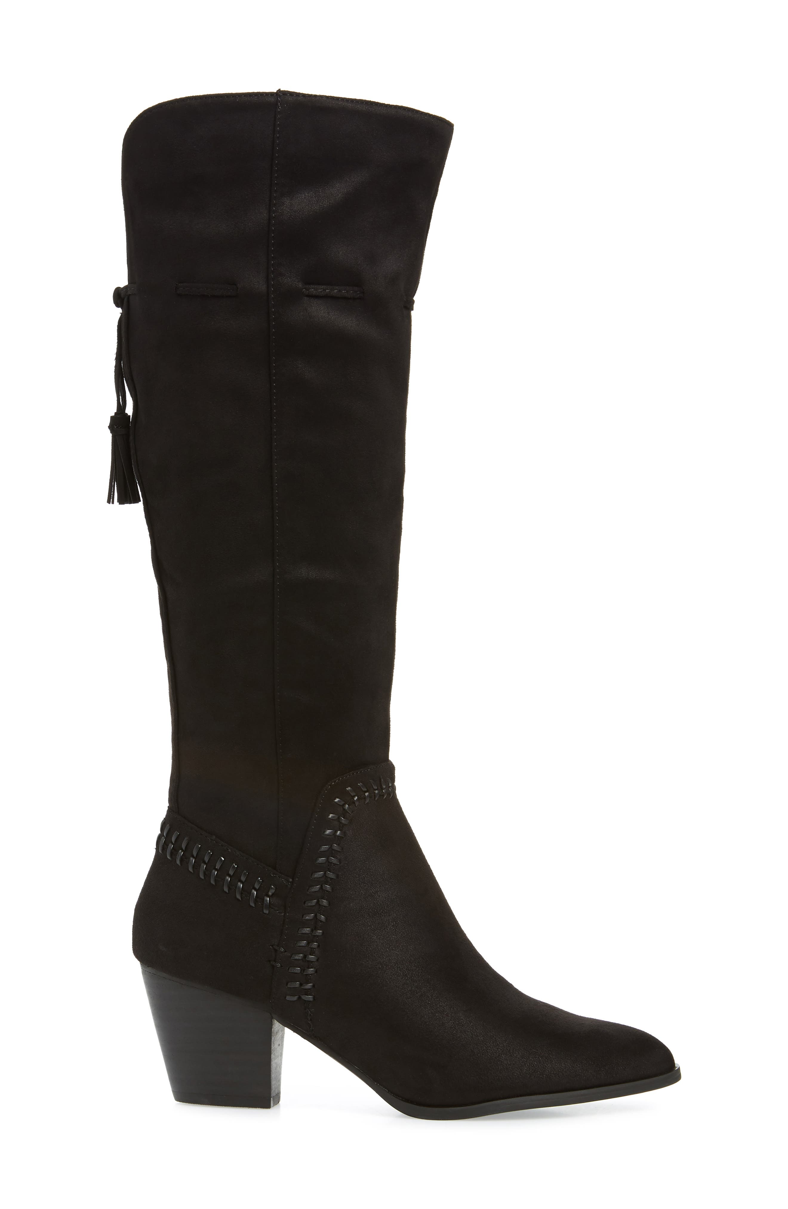 Eleanor II Knee High Boot,                             Alternate thumbnail 3, color,                             BLACK