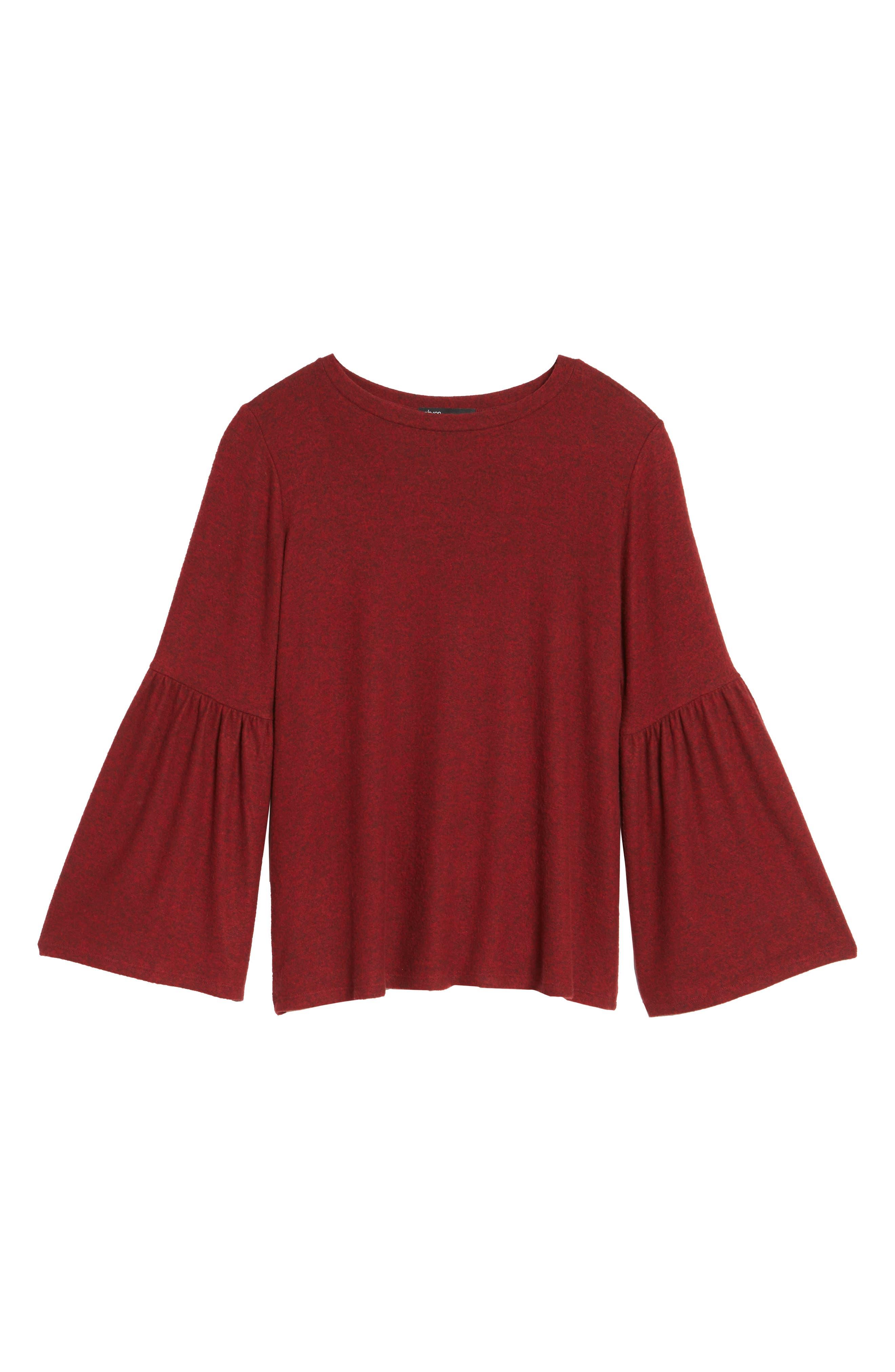 Bell Sleeve Cozy Fleece Pullover,                             Alternate thumbnail 65, color,