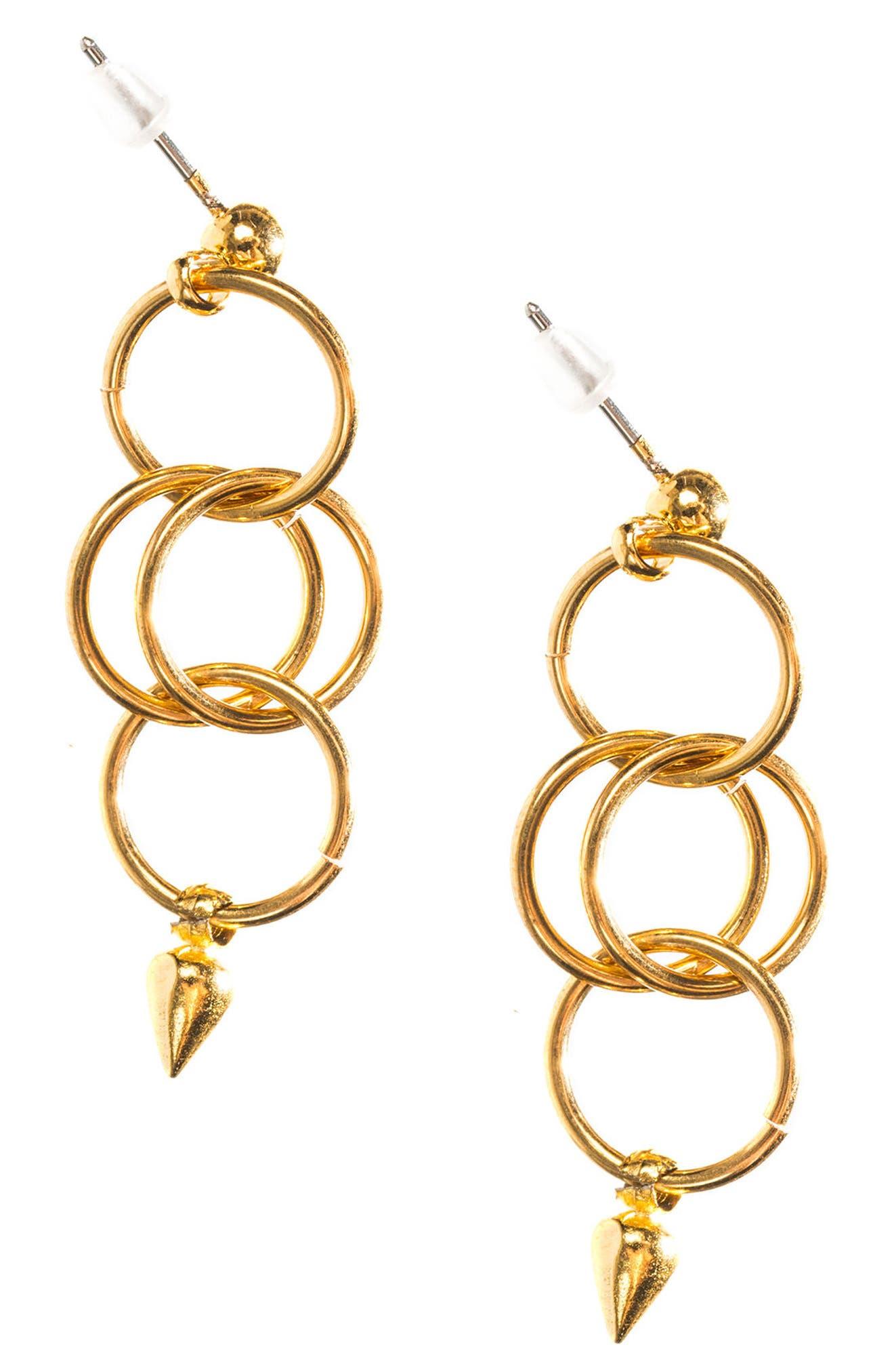 Tri Hoop Earrings,                         Main,                         color, 710