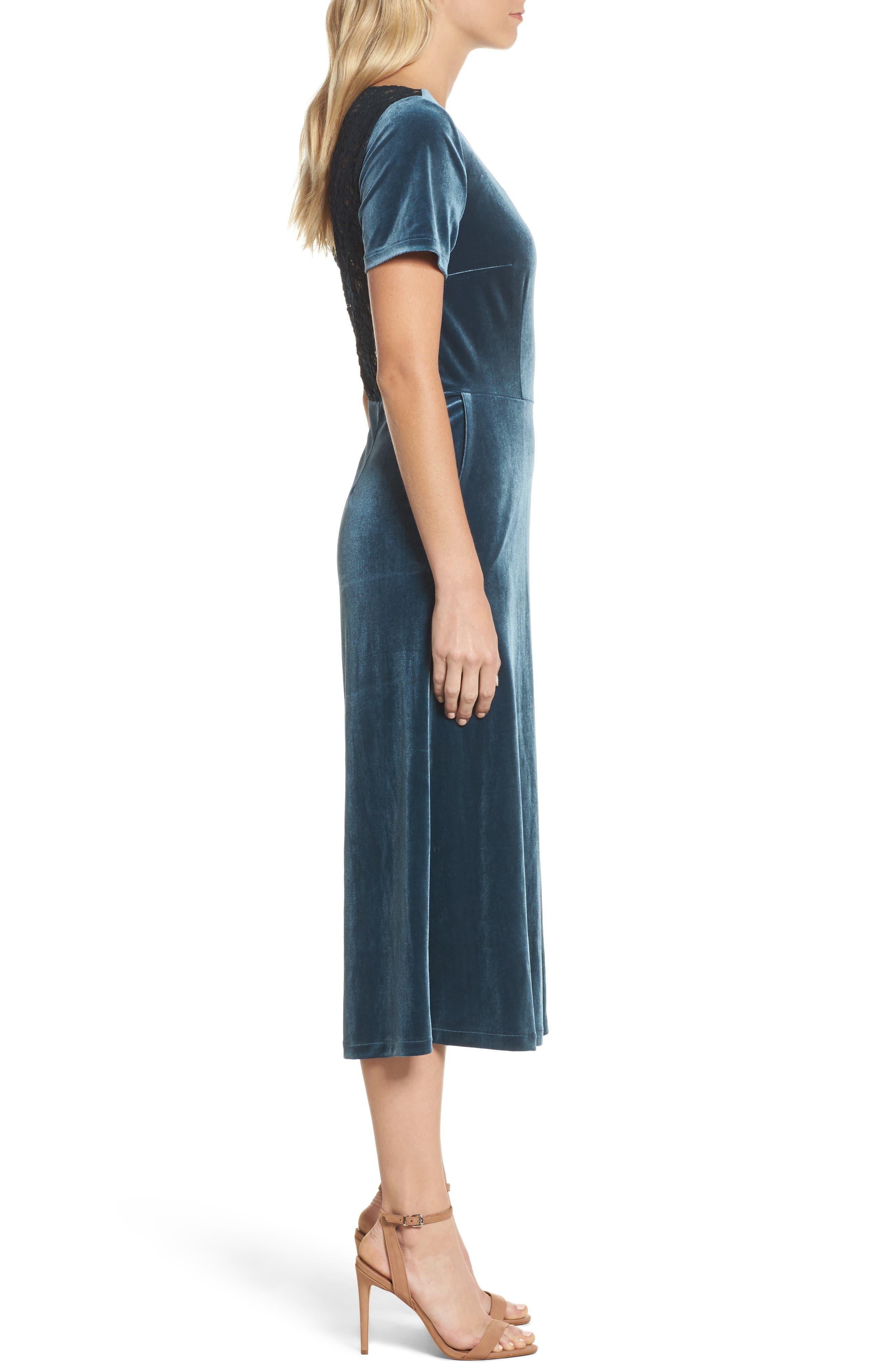 Aurore Velvet Culotte Jumpsuit,                             Alternate thumbnail 6, color,