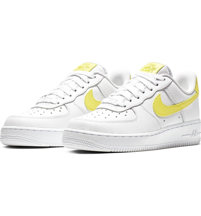 best service a14e8 d2204 NIKE Air Force 1 07 Sneaker, Main, color, WHITE YELLOW PULSE