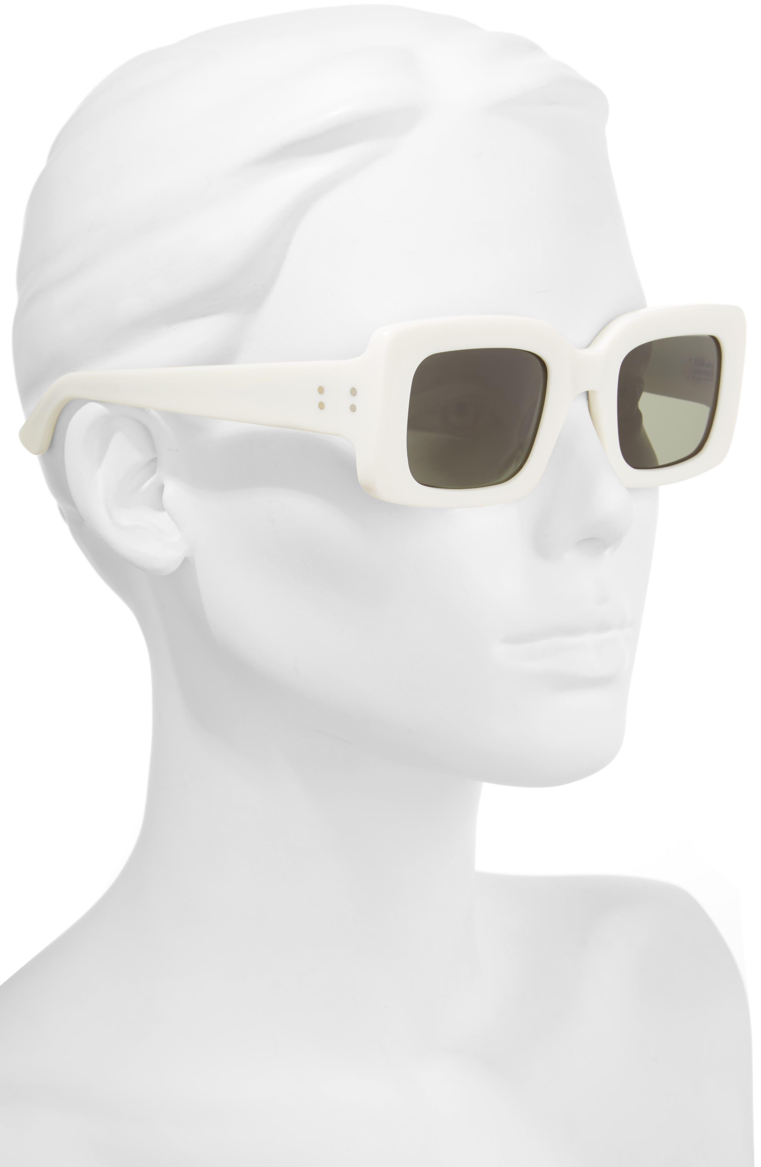 x Alex Knost Luxury Wig Flatscreen 49mm Square Sunglasses,                             Alternate thumbnail 2, color,                             PEROXIDE