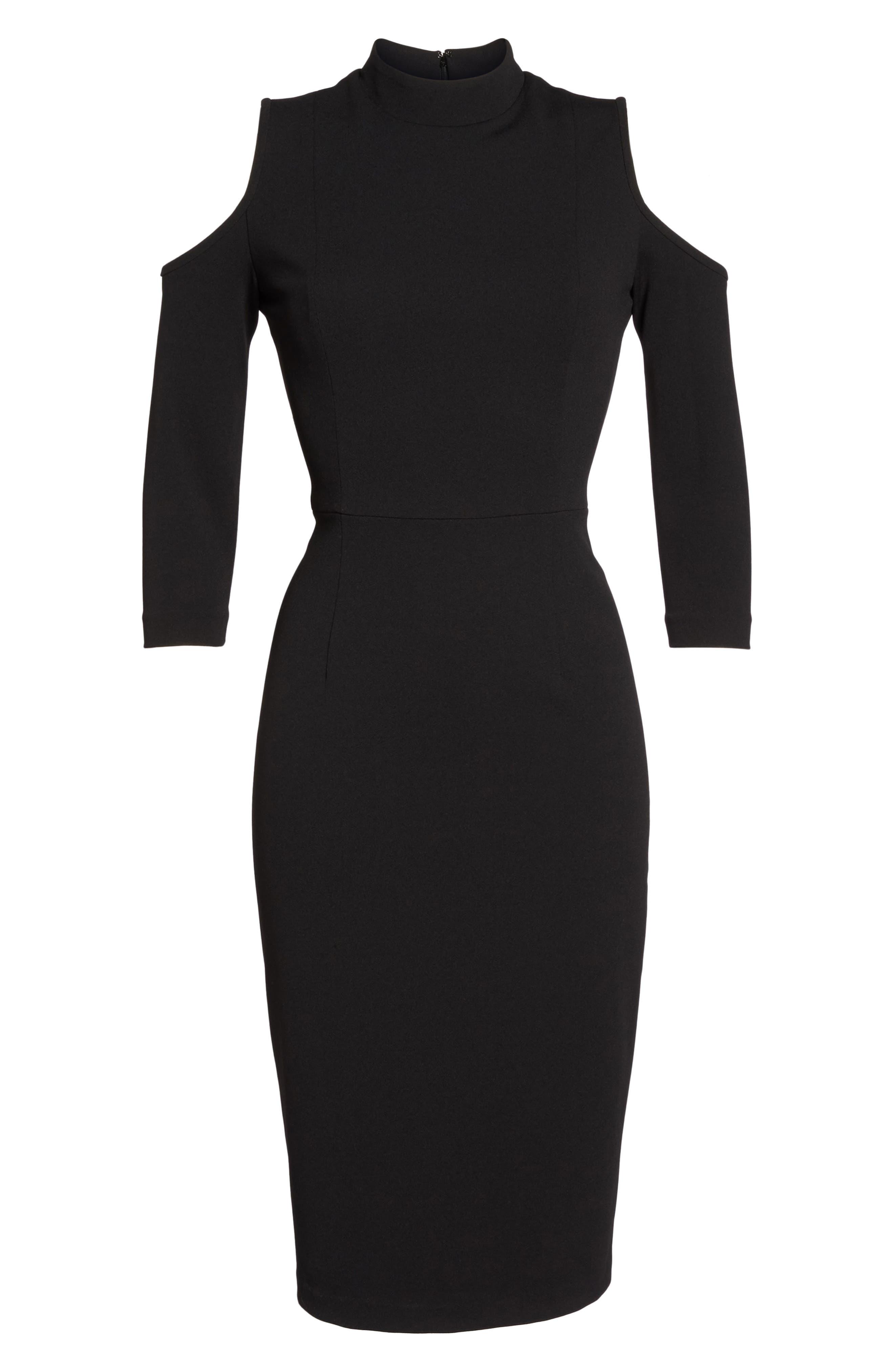 Cold Shoulder Sheath Dress,                             Alternate thumbnail 6, color,