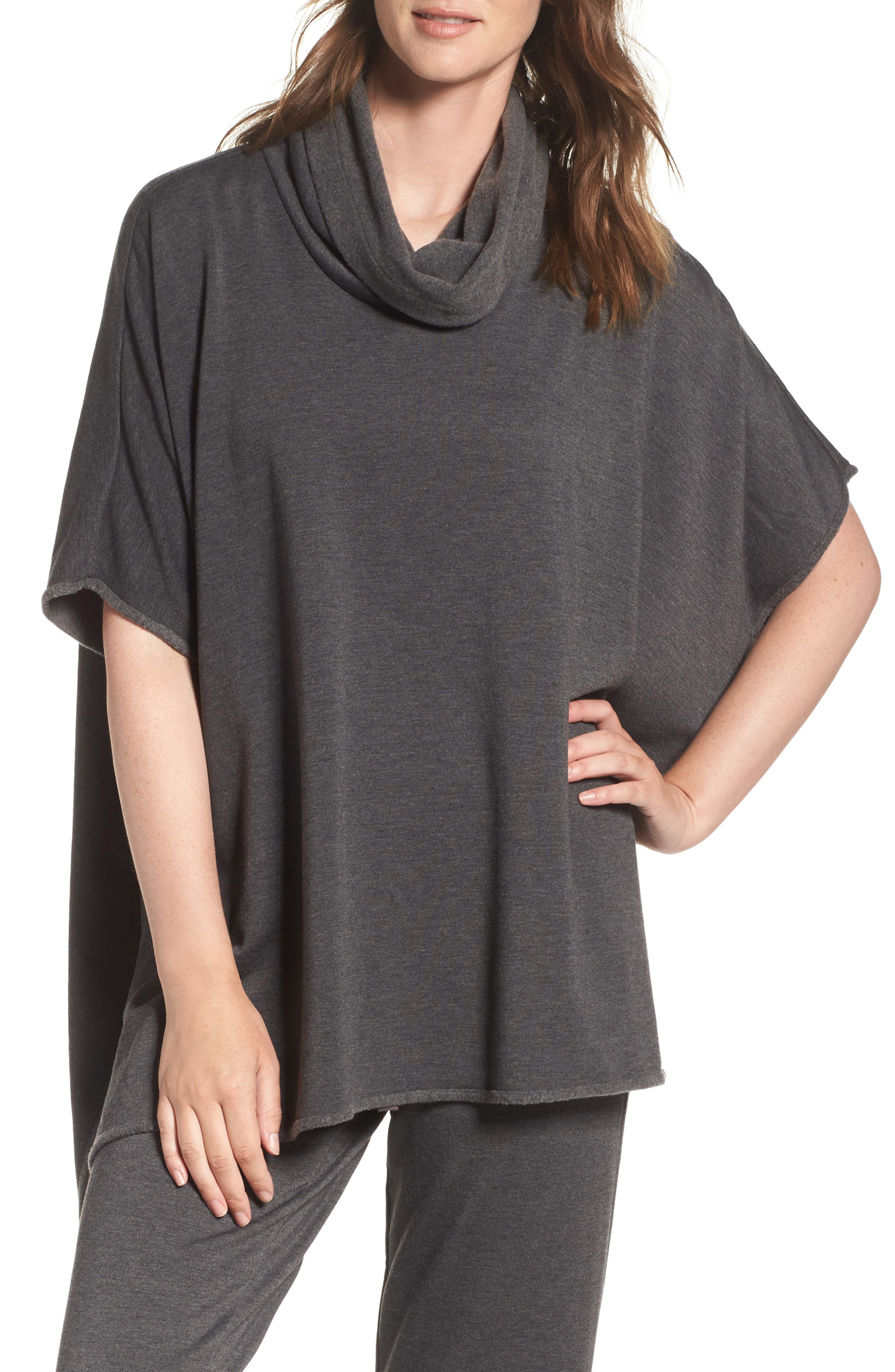Brushed Jersey Poncho,                             Main thumbnail 2, color,