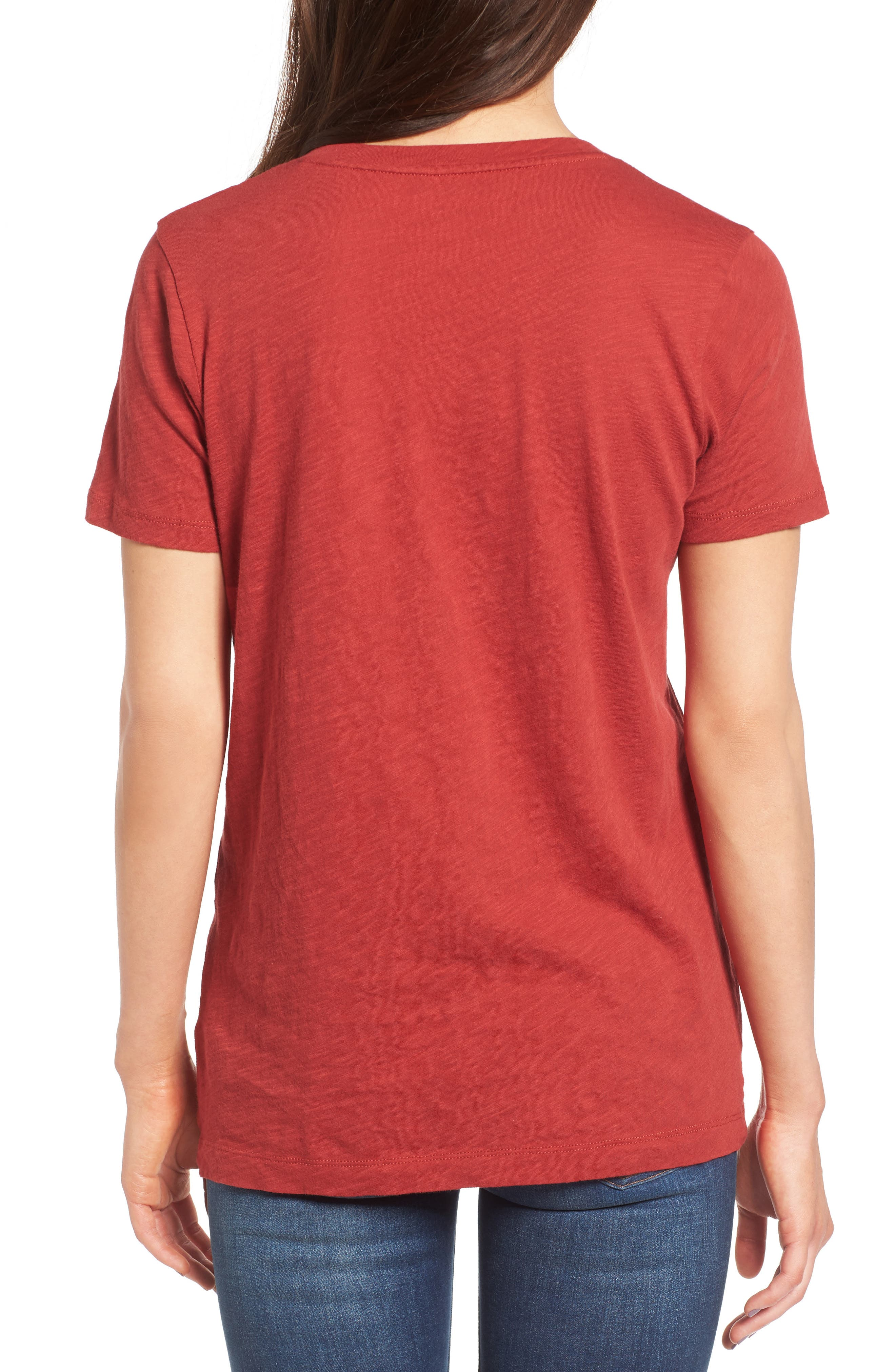 Whisper Cotton V-Neck Pocket Tee,                             Alternate thumbnail 84, color,