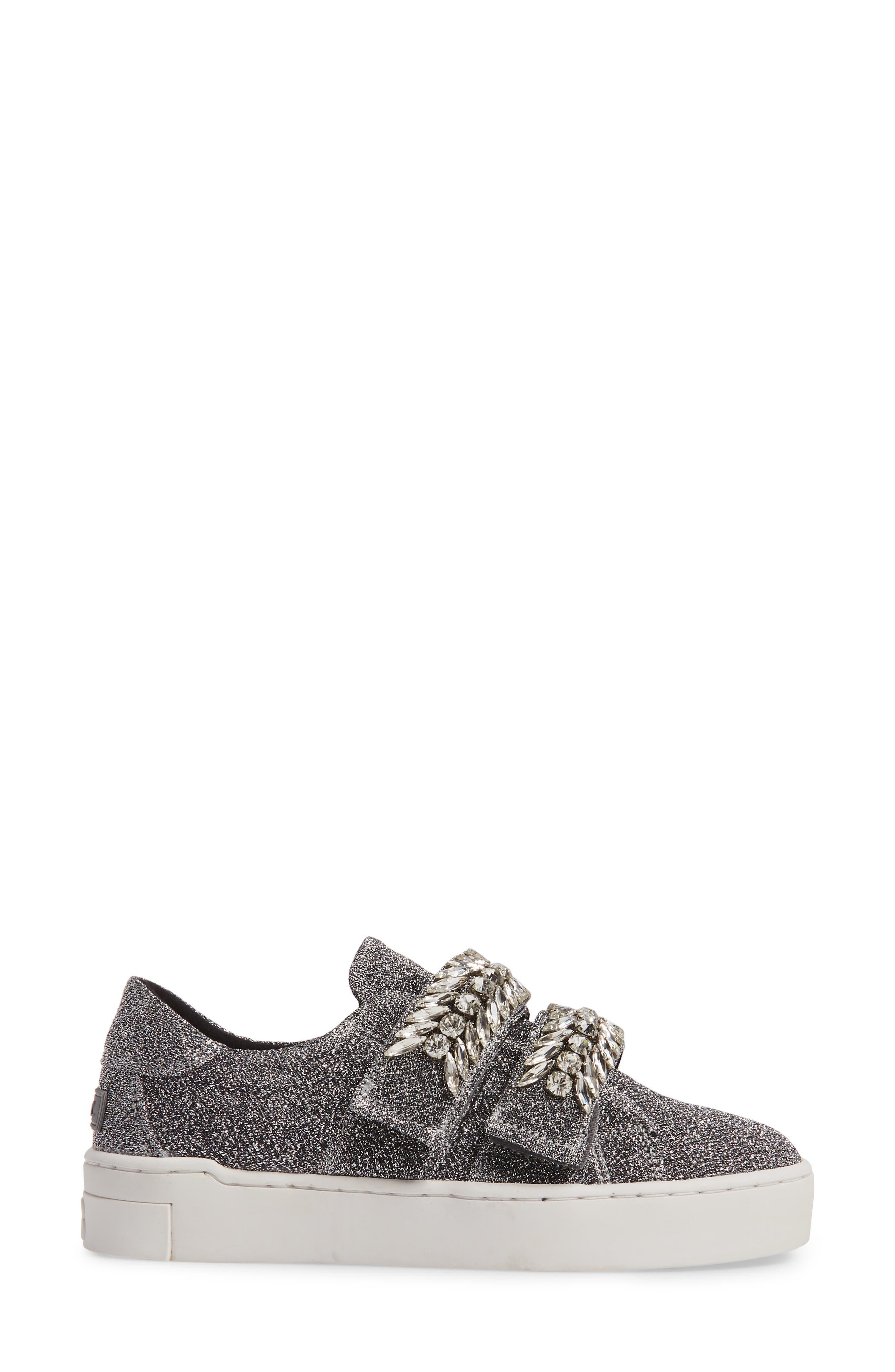 SUECOMMA BONNIE,                             Crystal Embellished Sneaker,                             Alternate thumbnail 3, color,                             040