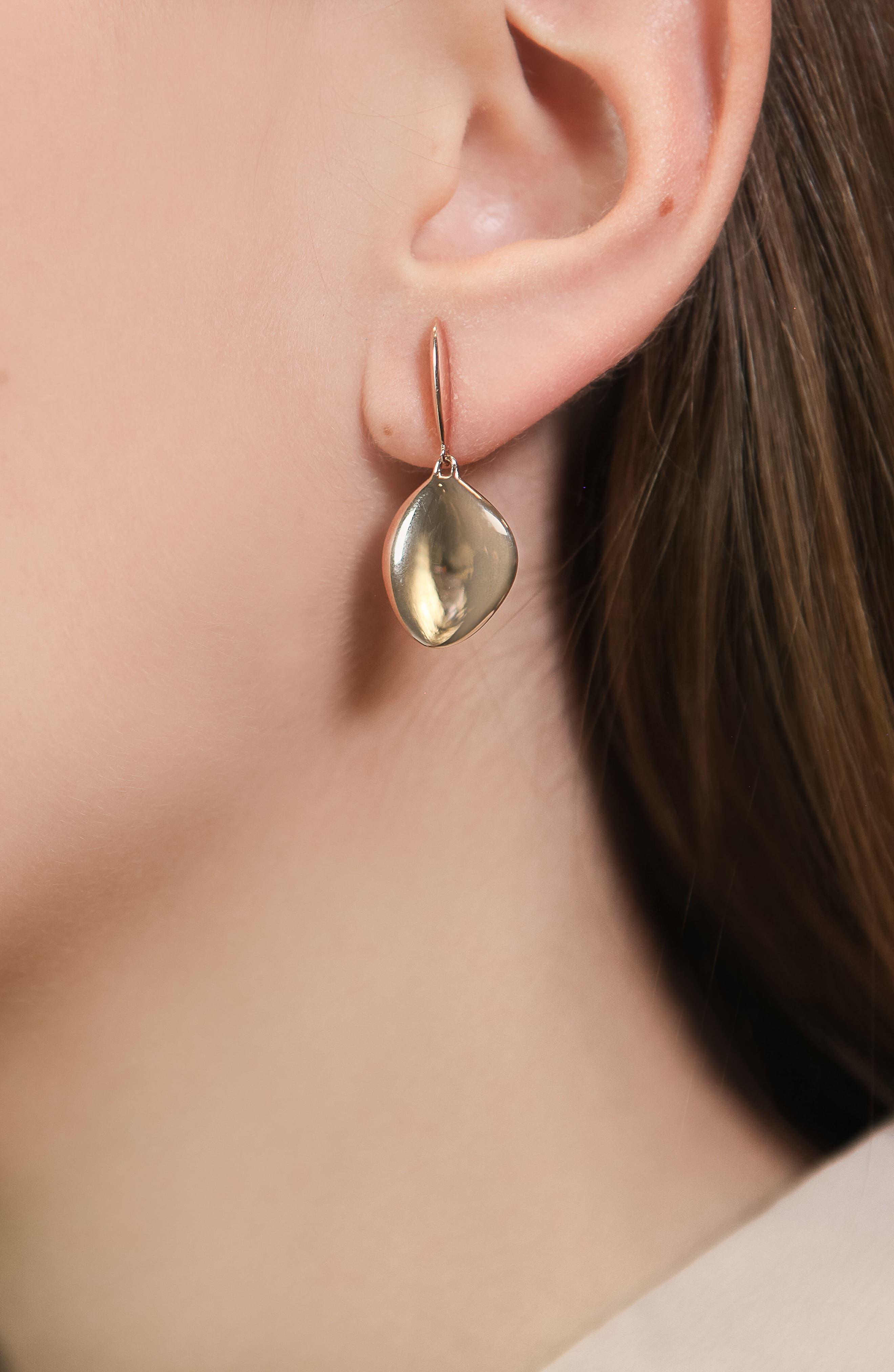 Engravable Nura Vermeil Teardrop Earrings,                             Alternate thumbnail 4, color,                             ROSE GOLD