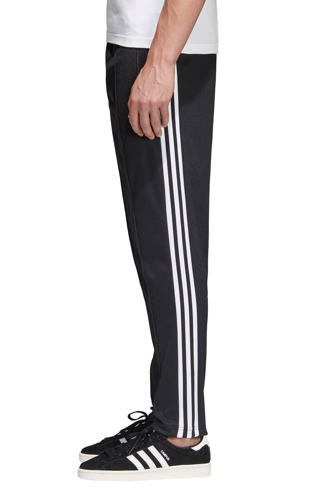 Beckenbauer Track Pants,                             Alternate thumbnail 3, color,                             BLACK/ WHITE