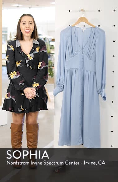 Kyria Silk Midi Dress, sales video thumbnail