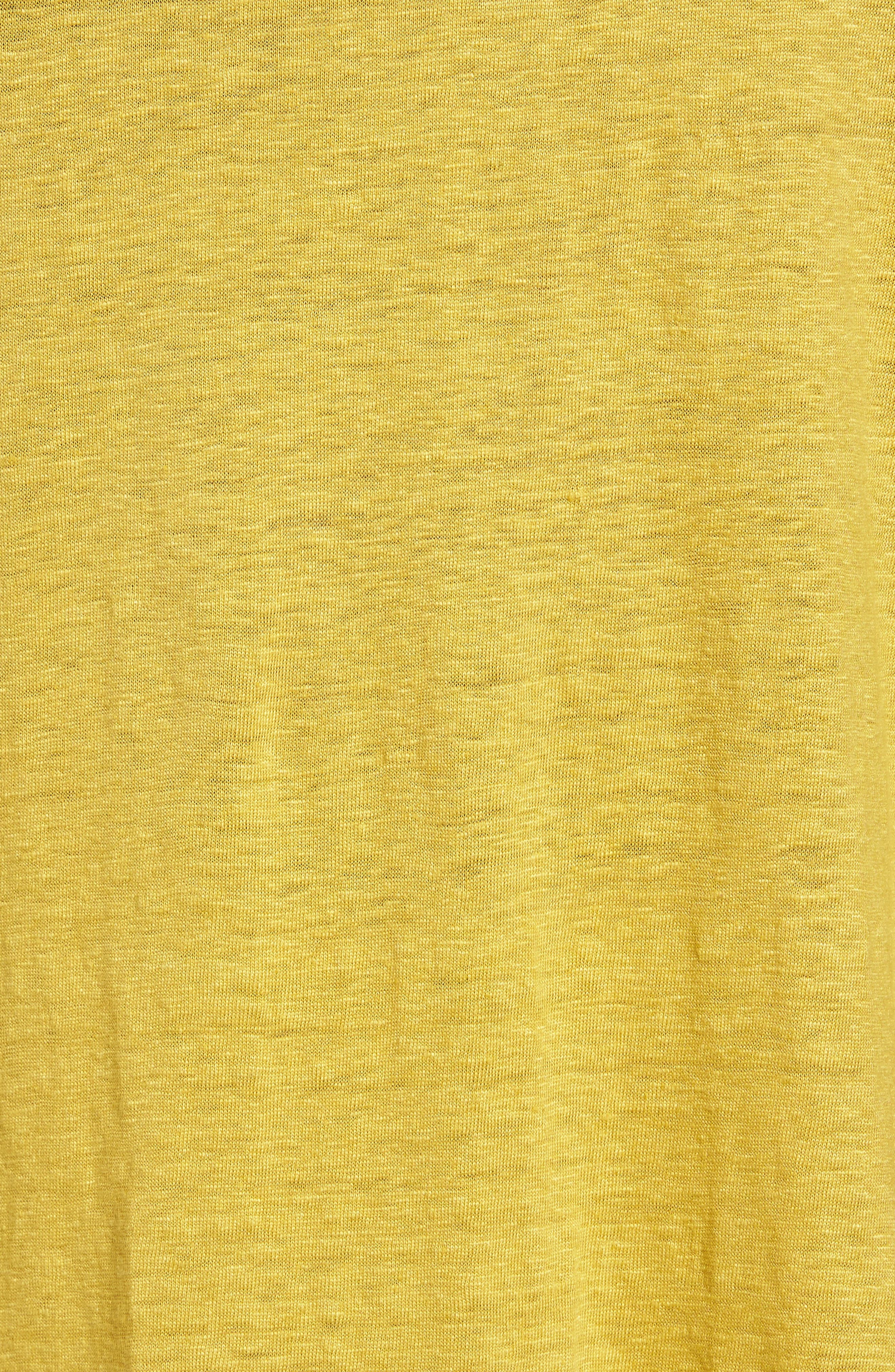 Bateau Neck Organic Linen Tunic,                             Alternate thumbnail 70, color,