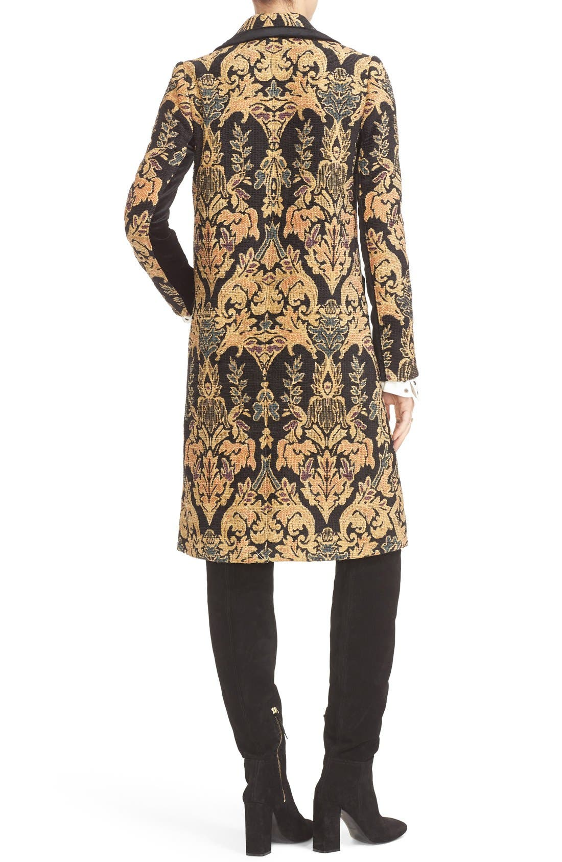 FREE PEOPLE,                             Jacquard Coat,                             Alternate thumbnail 4, color,                             001