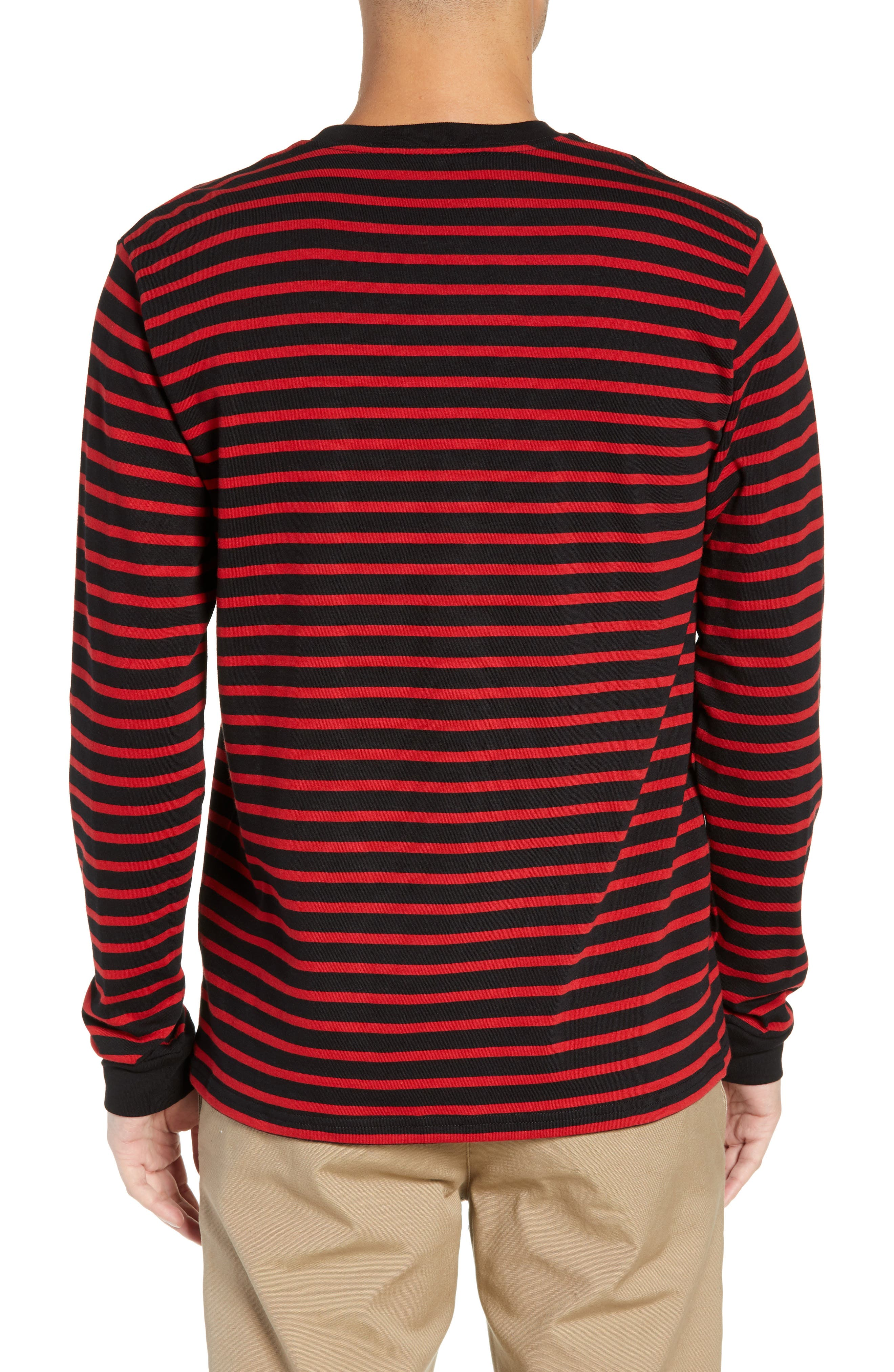 Long Sleeve Robie T-Shirt,                             Alternate thumbnail 2, color,                             BLACK/BLAST RED/QUINCE