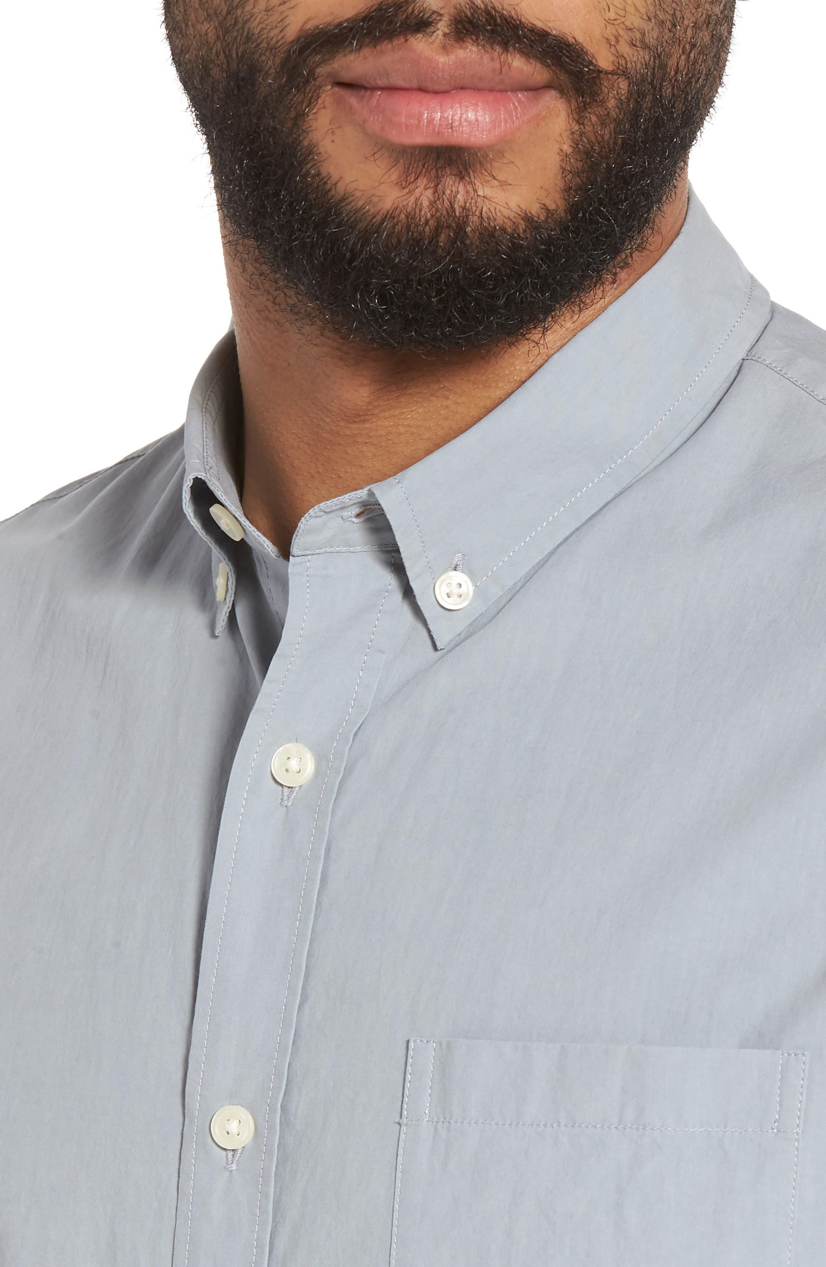 Slim Fit Sport Shirt,                             Alternate thumbnail 4, color,                             100