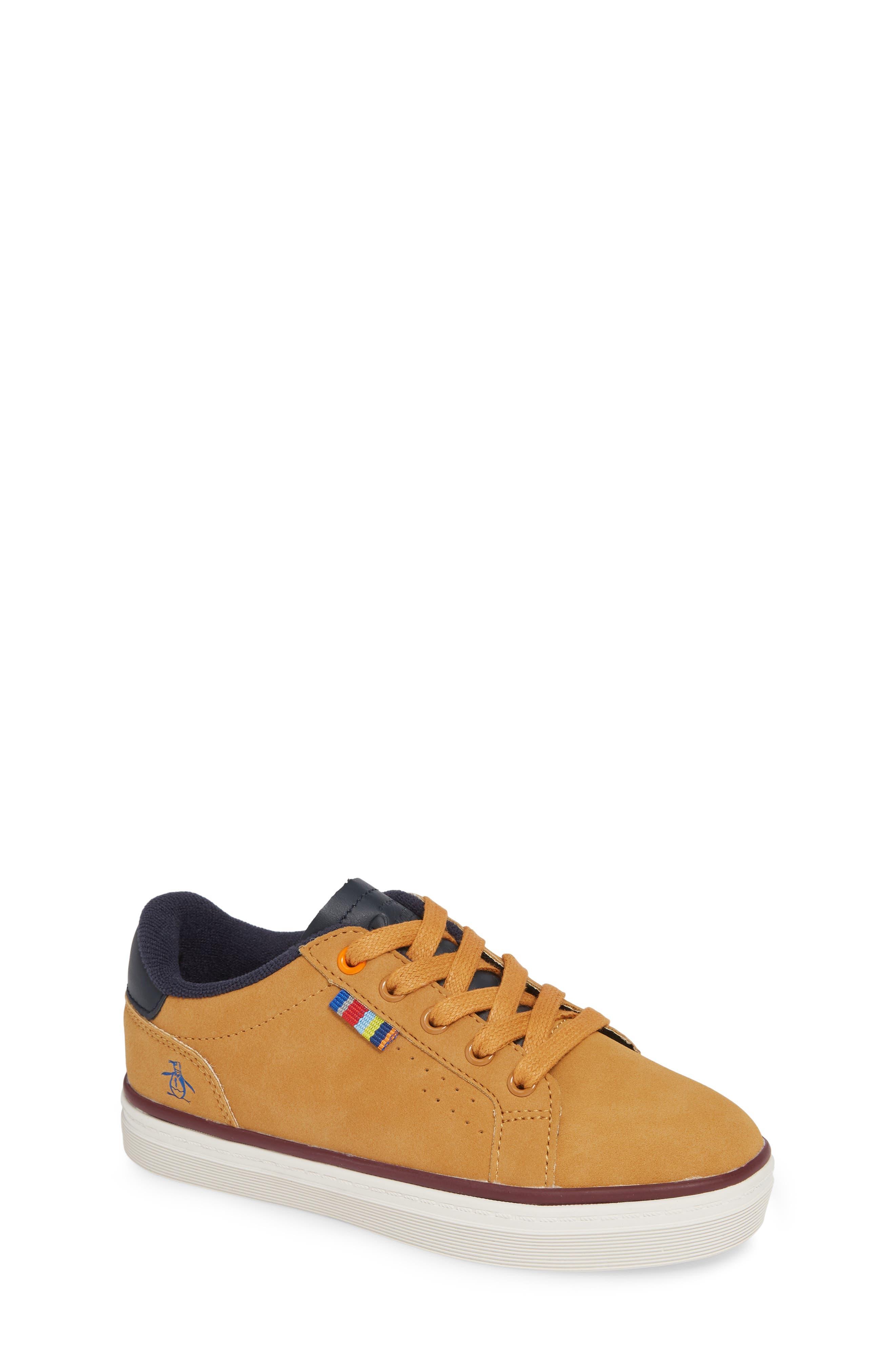 ORIGINAL PENGUIN,                             Dexter Sneaker,                             Main thumbnail 1, color,                             WHEAT/ NAVY