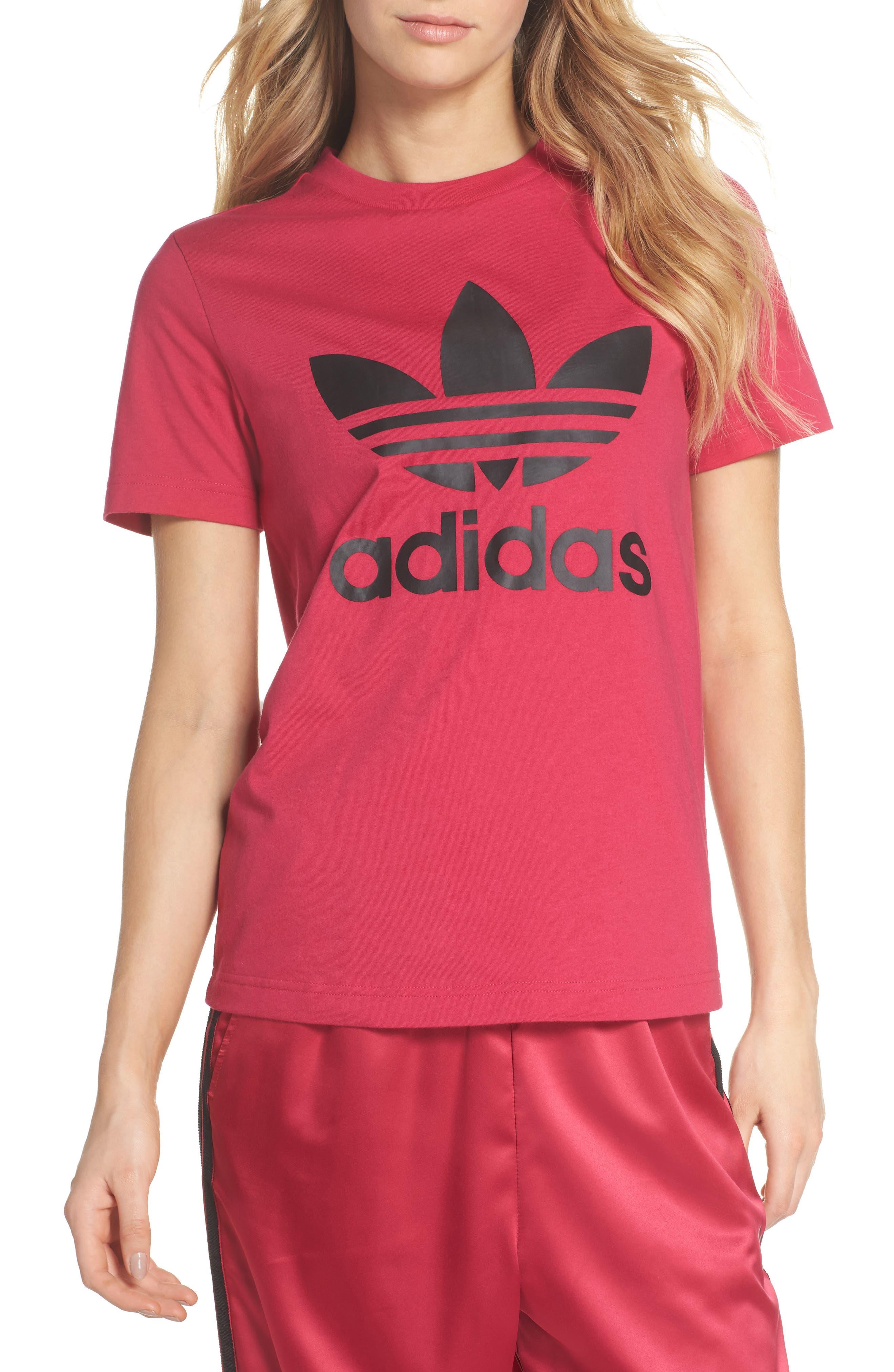 adidas Logo Graphic Short Sleeve Tee,                         Main,                         color, 650