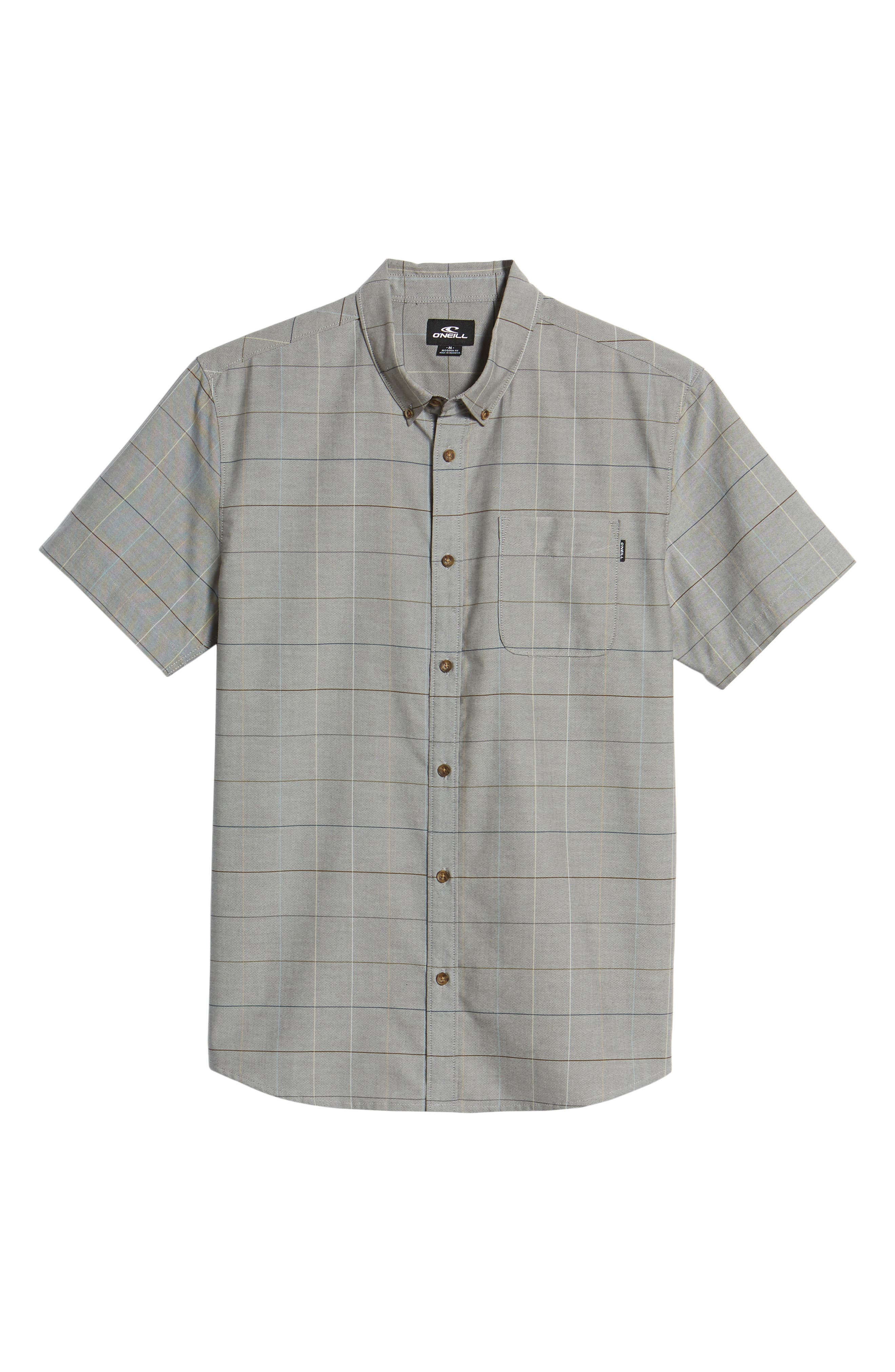 Gridlock Check Woven Shirt,                             Alternate thumbnail 6, color,                             020