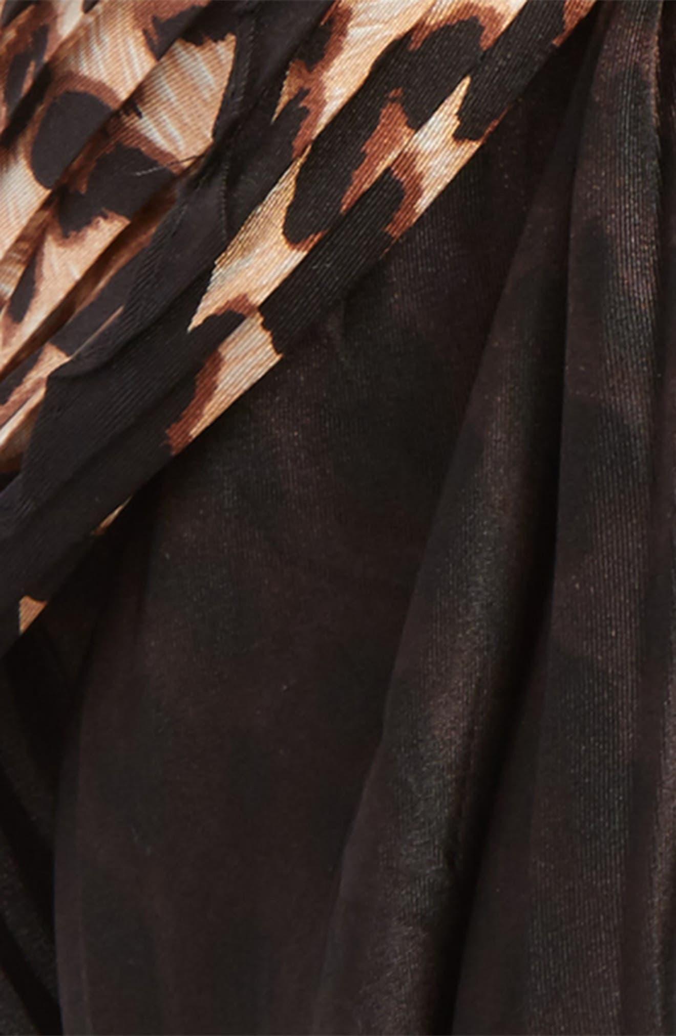Ombré Leopard Silk Scarf,                             Alternate thumbnail 7, color,