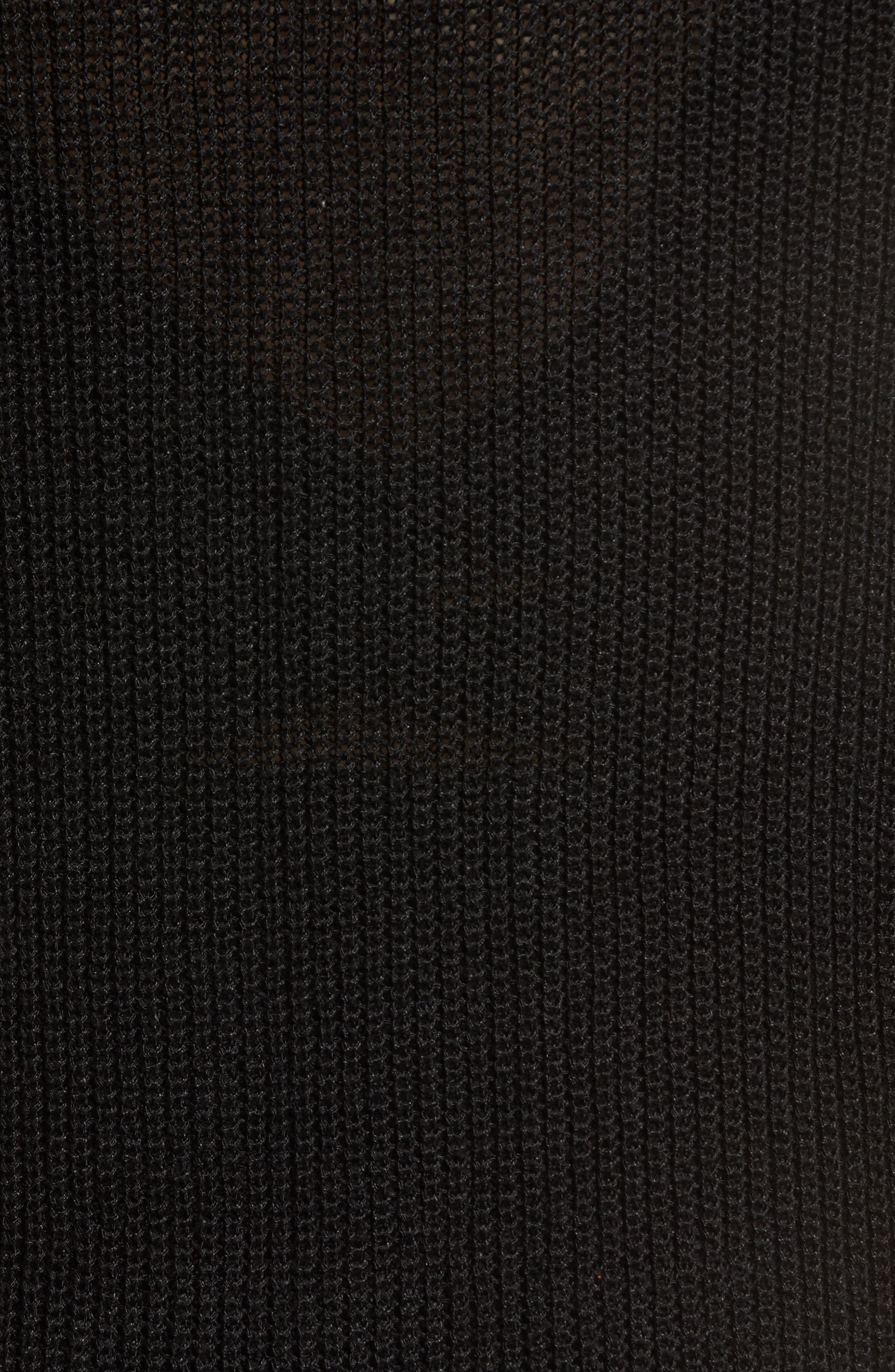 Twisted Sleeve Cardigan,                             Alternate thumbnail 5, color,                             001