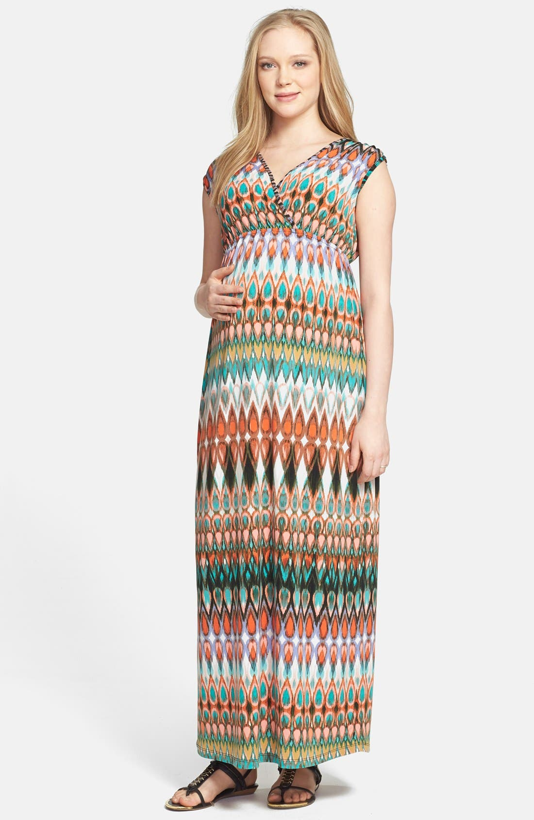Maxi Dress,                             Main thumbnail 1, color,                             001