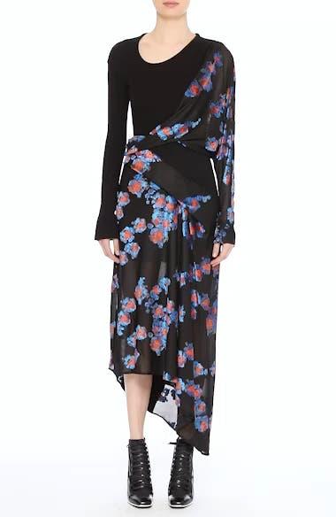 Jersey Jacquard Draped Maxi Dress, video thumbnail