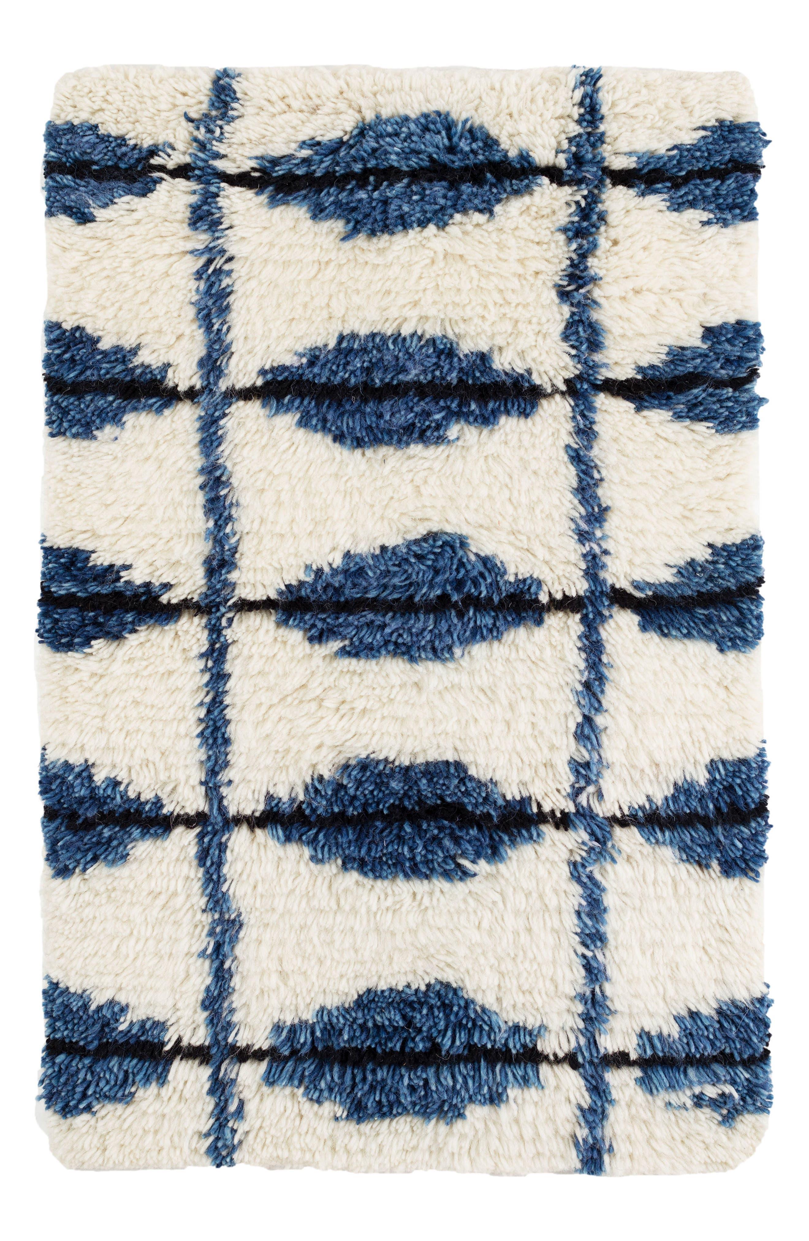 Noma Wool Blend Rug,                             Main thumbnail 1, color,                             INDIGO