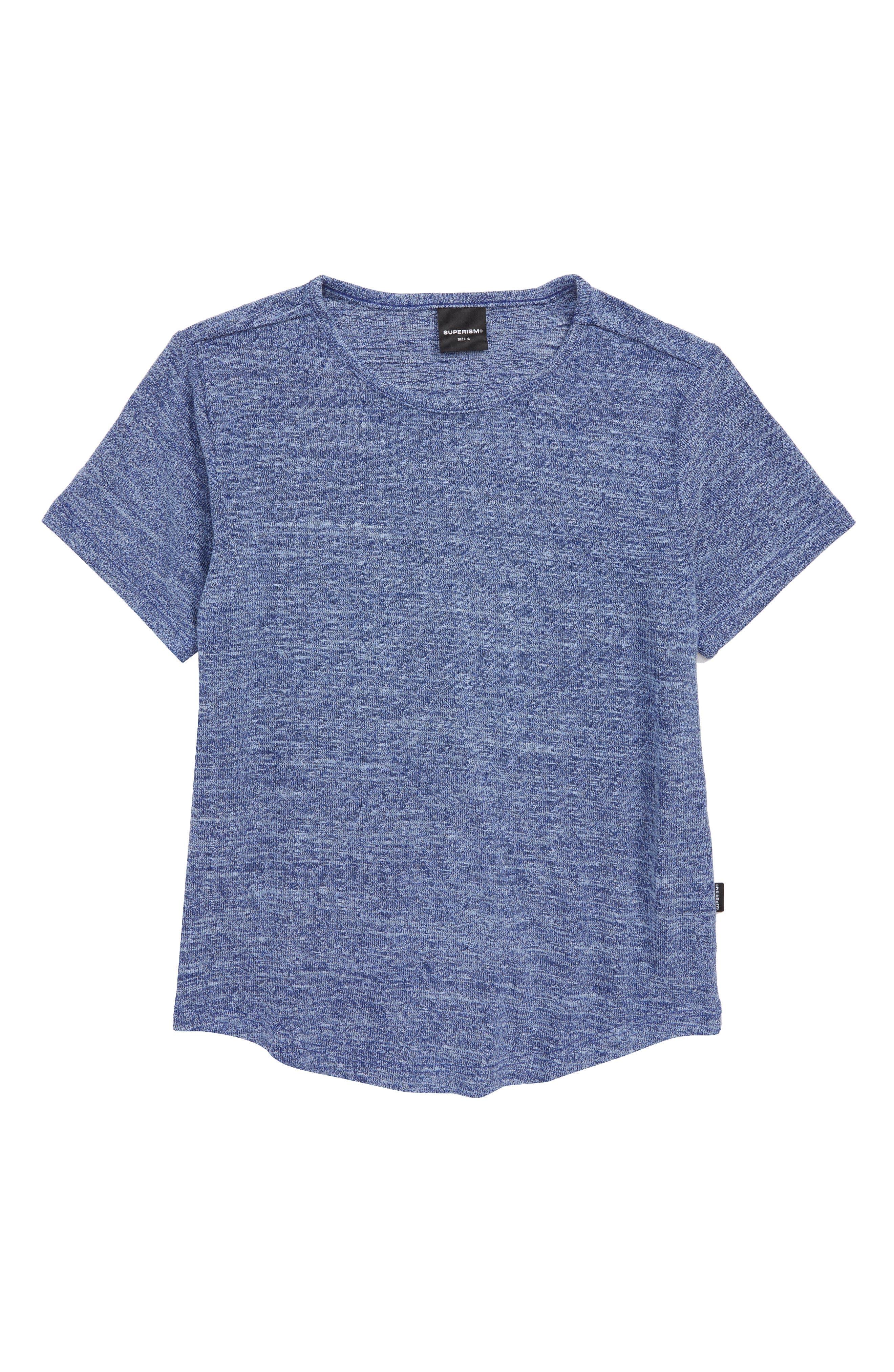 Landon Stretch T-Shirt,                         Main,                         color, BLUE