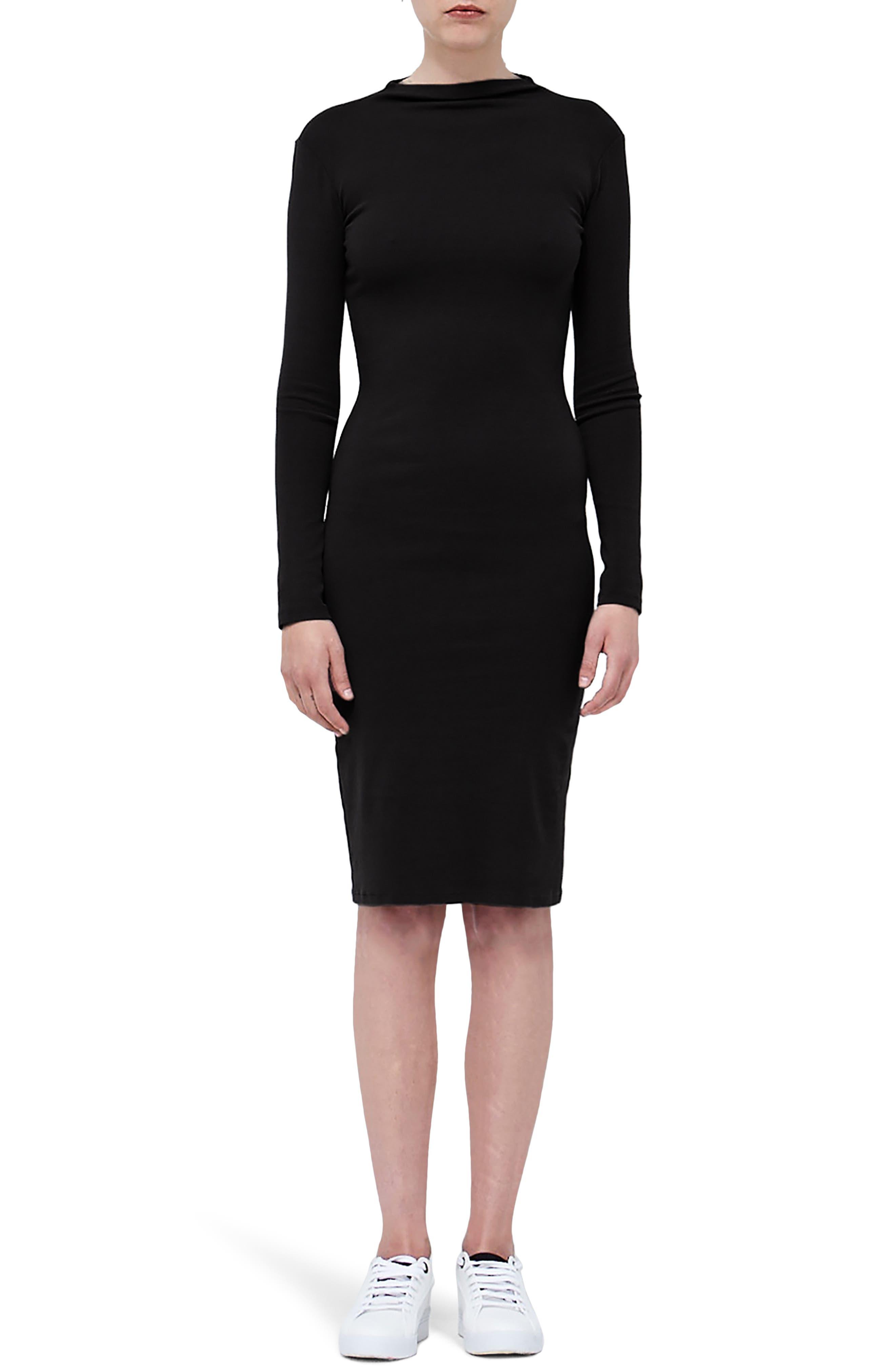 Mock Neck Dress,                         Main,                         color, 001