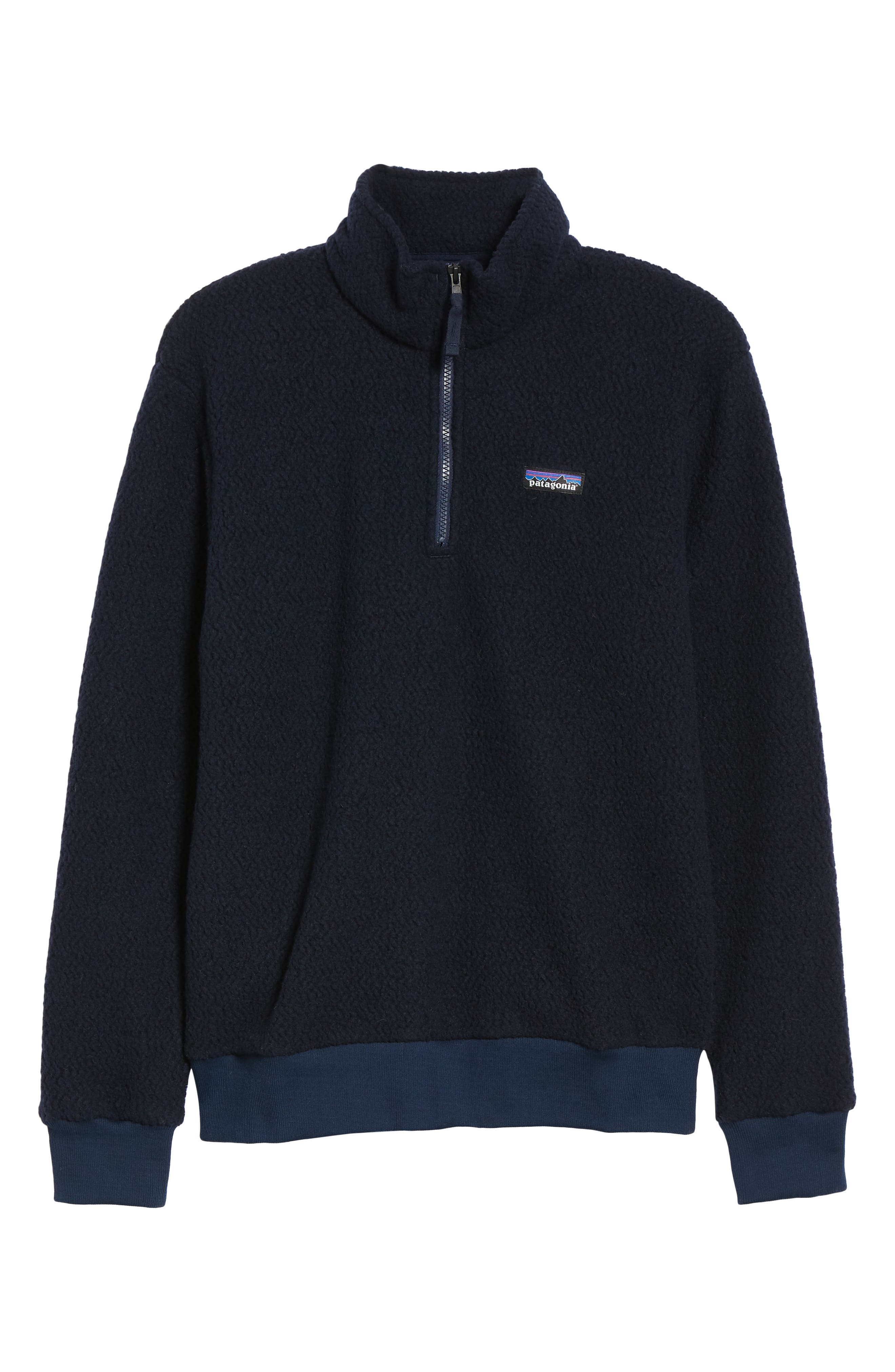 PATAGONIA,                             Woolyester Fleece Quarter Zip Pullover,                             Alternate thumbnail 6, color,                             CLASSIC NAVY