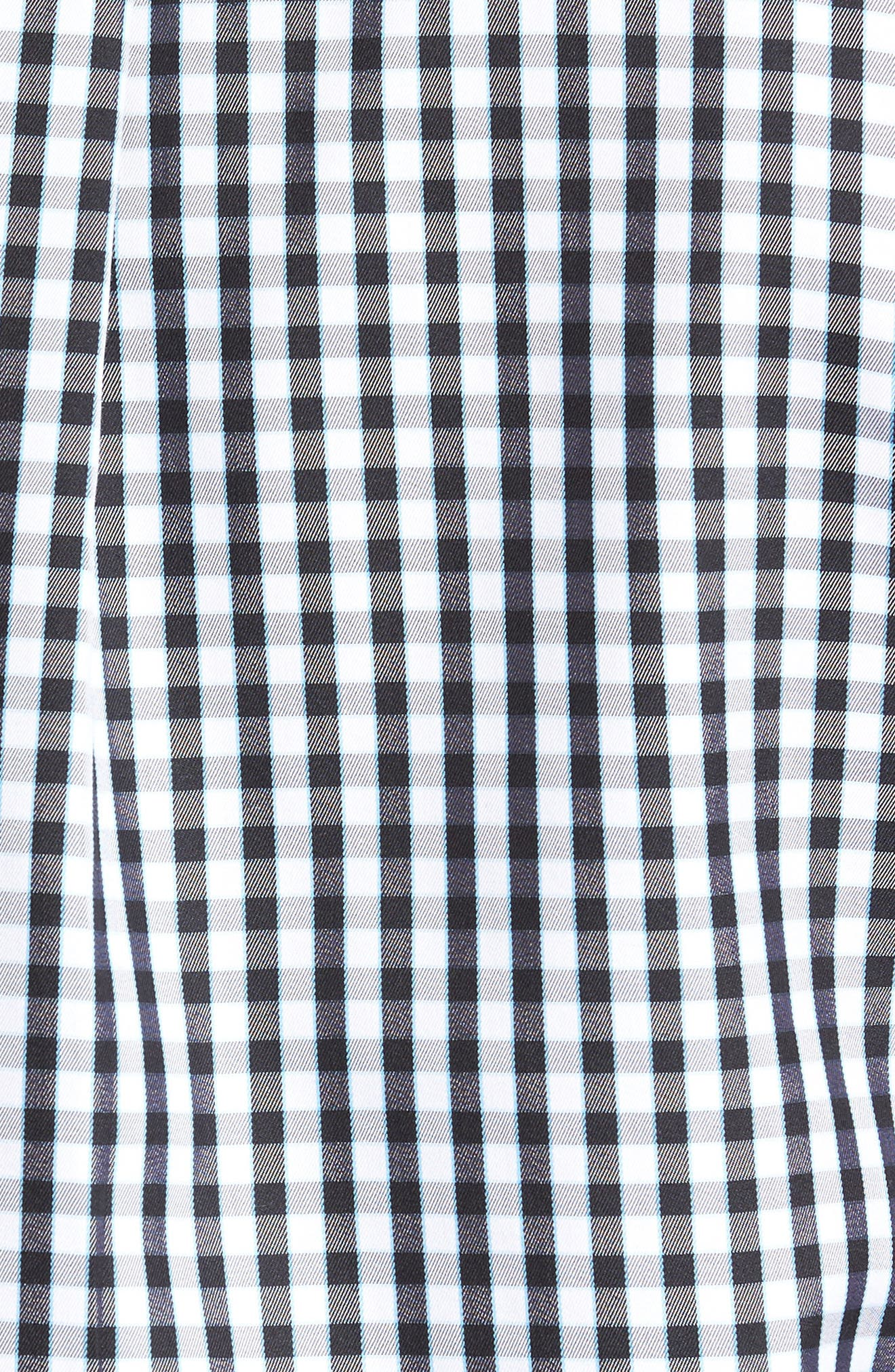Black Sand Classic Fit Gingham Check Sport Shirt,                             Alternate thumbnail 5, color,                             BLACK