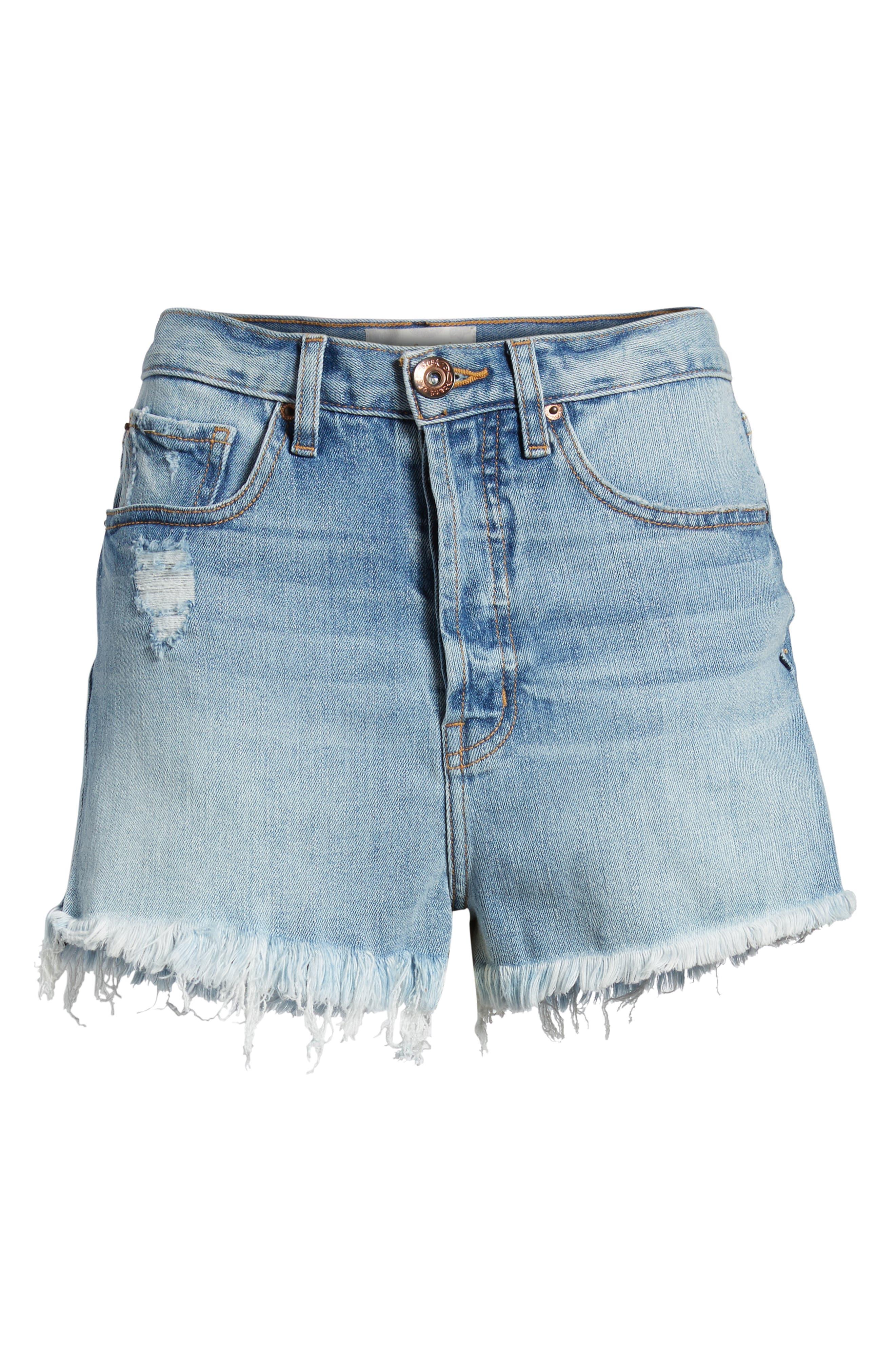Zoey Denim Shorts,                             Alternate thumbnail 7, color,