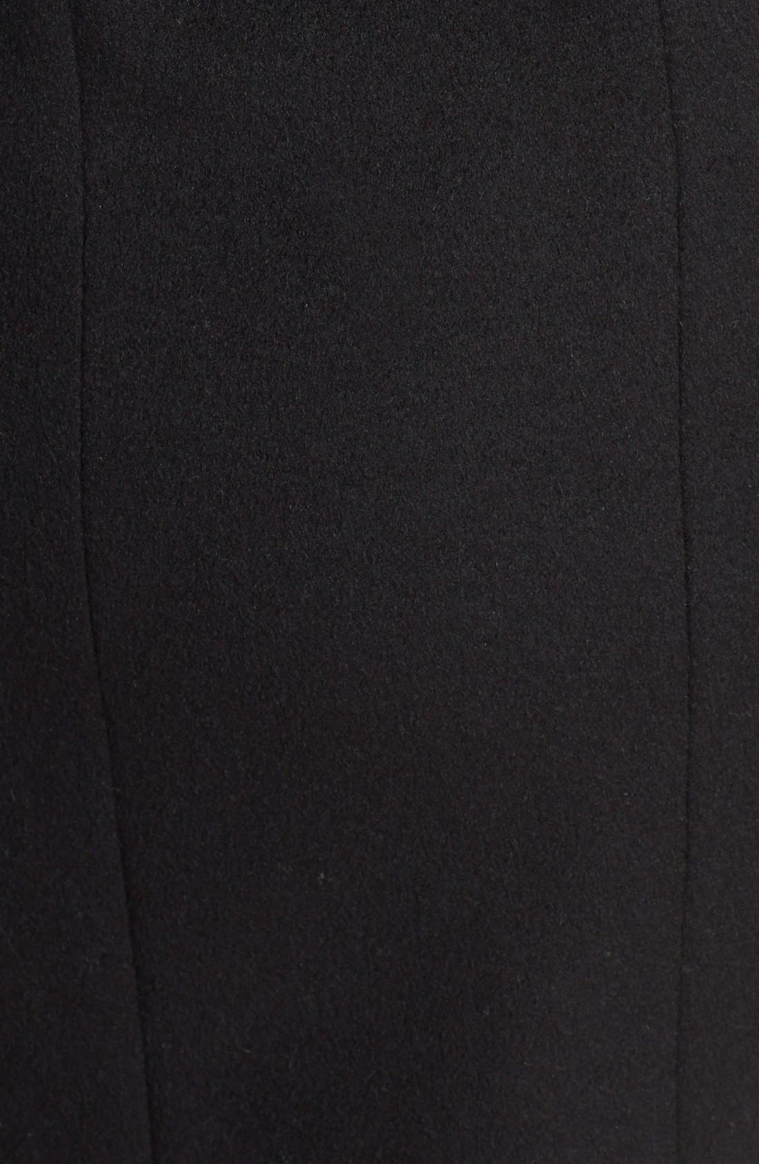 Removable Hood Wool Blend Duffle Coat,                             Alternate thumbnail 3, color,                             001