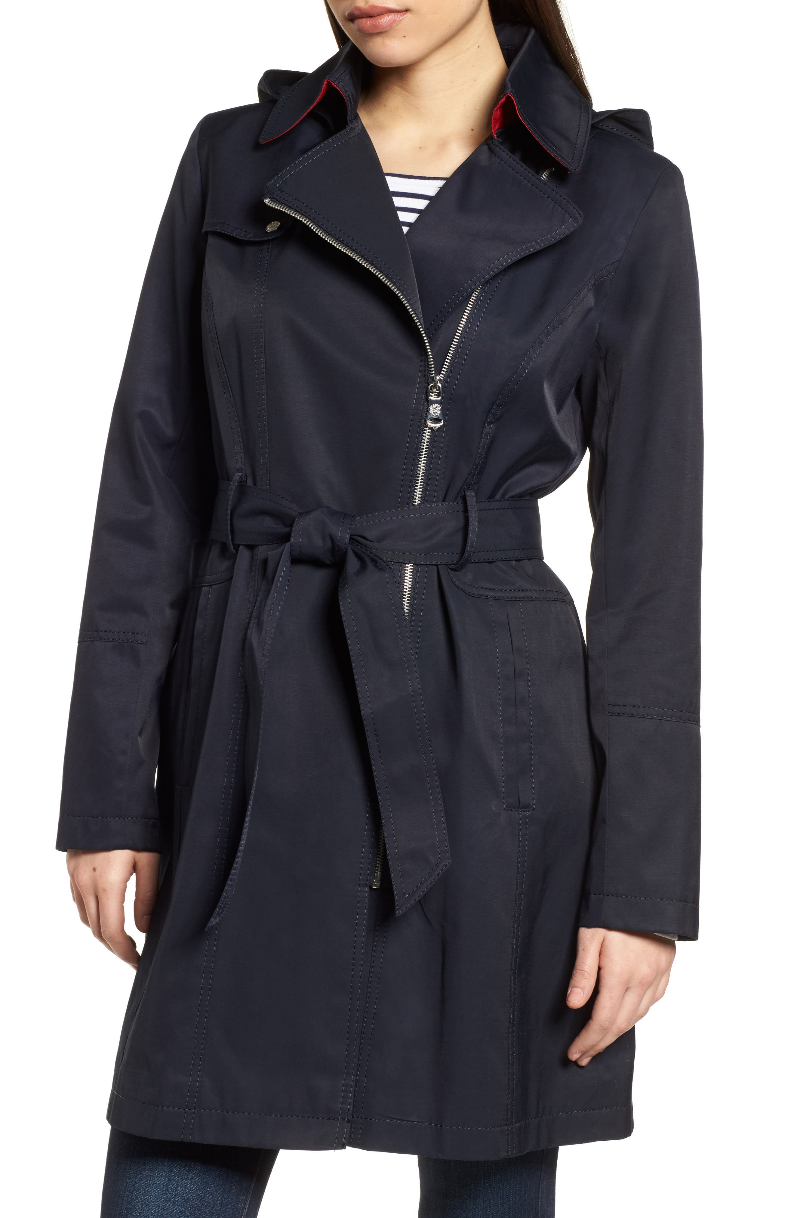 Belted Asymmetrical Trench Coat,                             Main thumbnail 3, color,