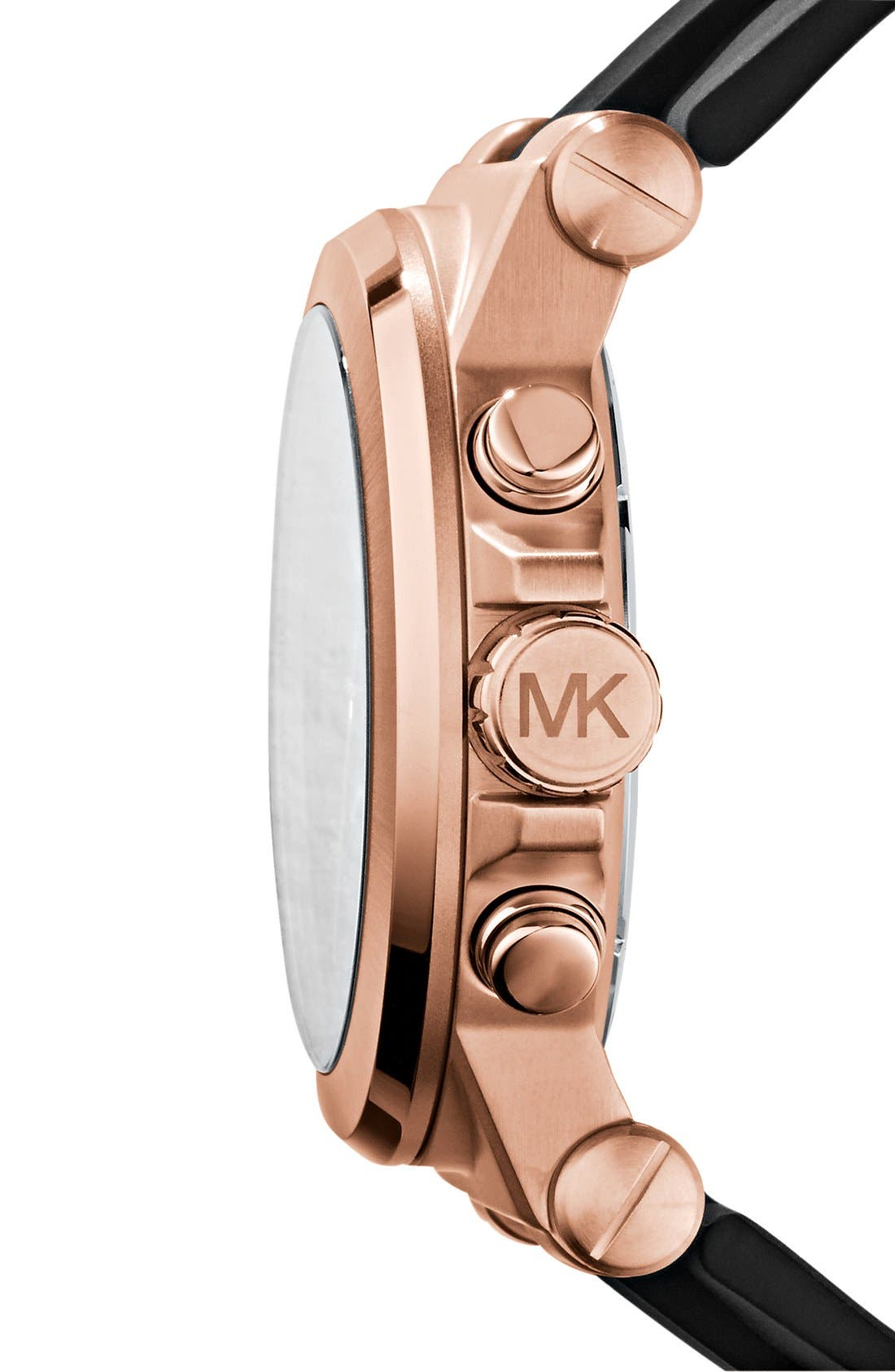 Chronograph Watch, 45mm,                             Alternate thumbnail 3, color,                             ROSE GOLD/ BLACK