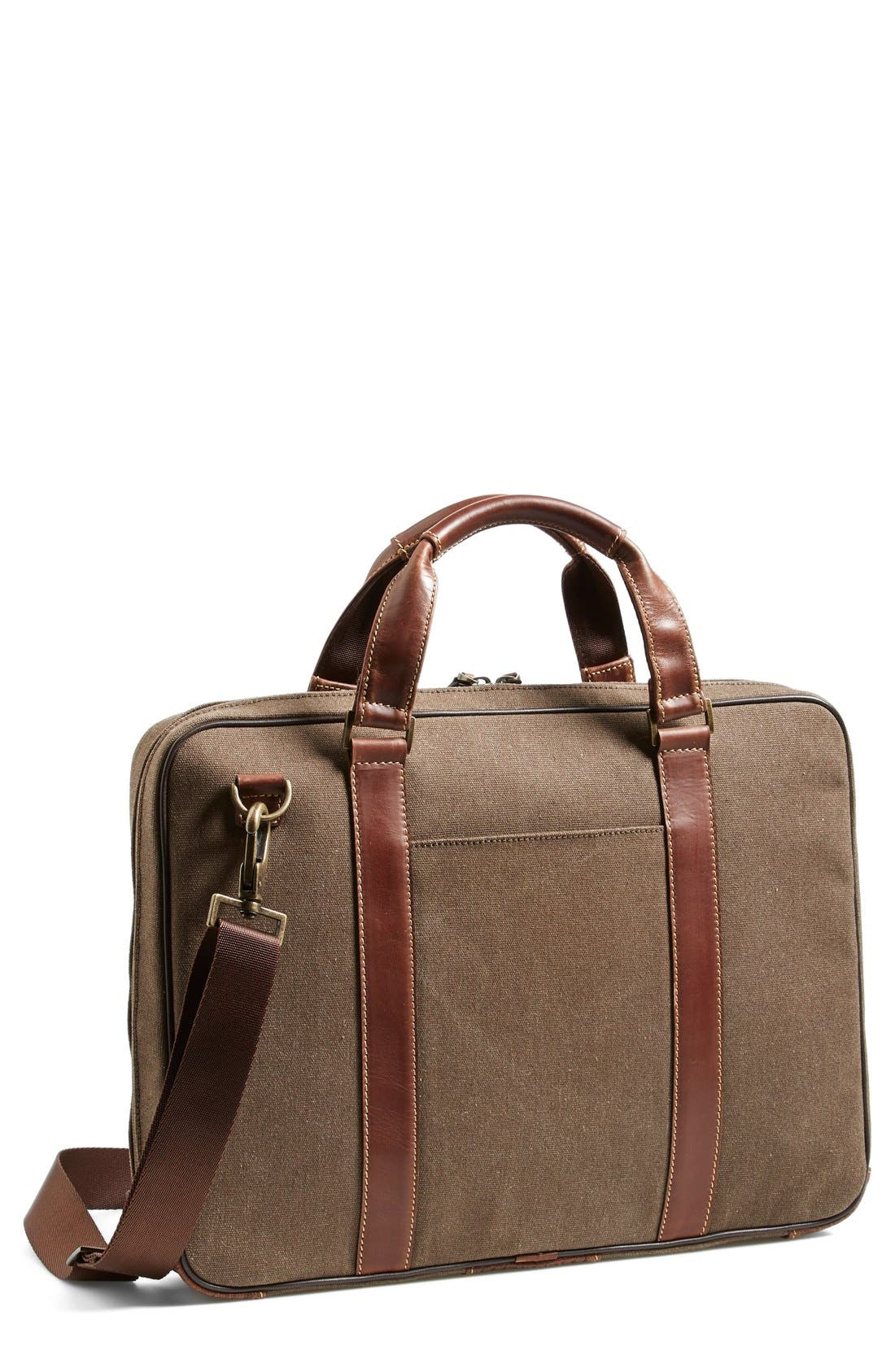 'Bryant' Briefcase,                         Main,                         color, HEATHER BROWN