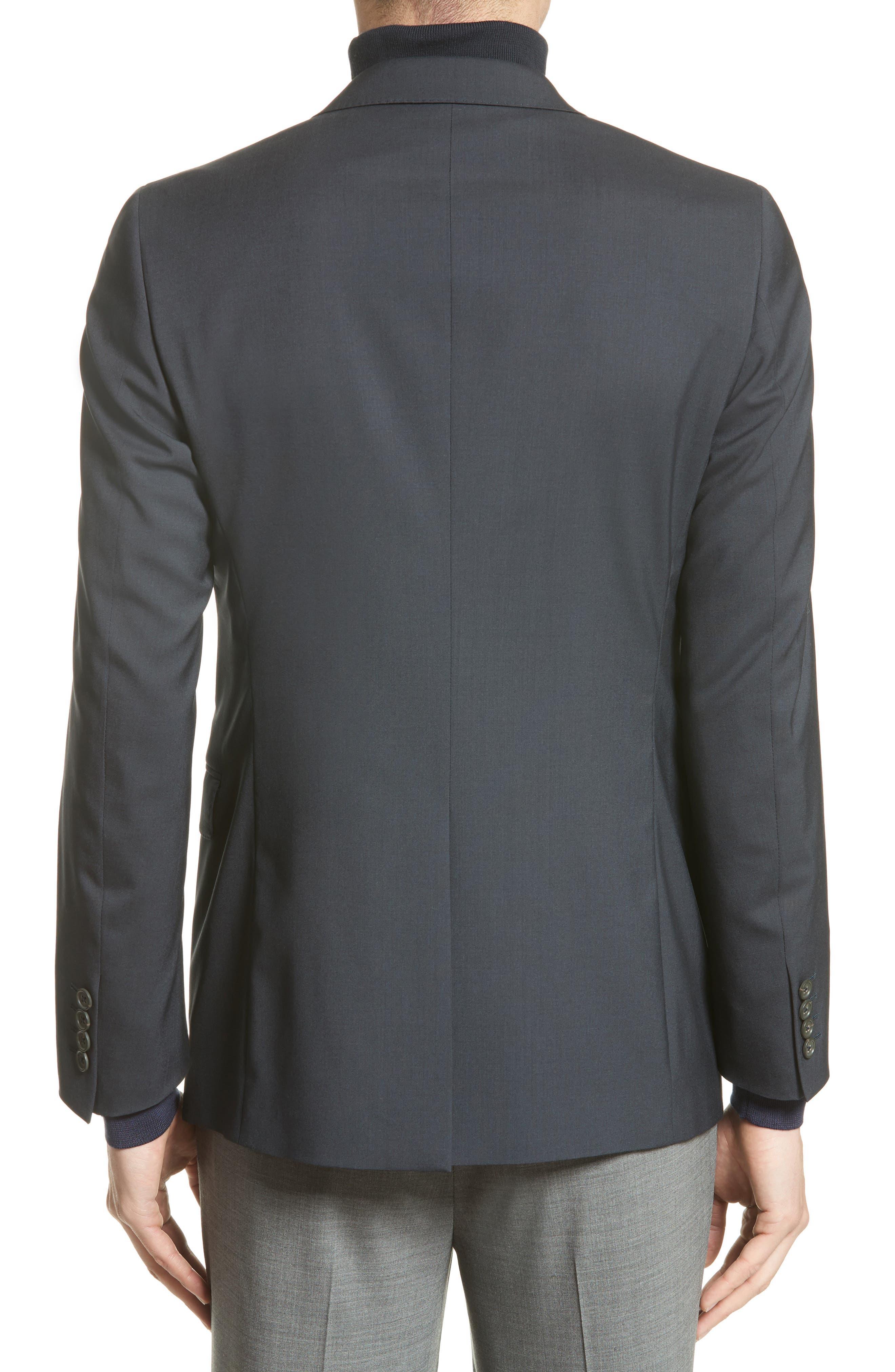 Tropical Wool Suit Jacket,                             Alternate thumbnail 3, color,                             NAVY