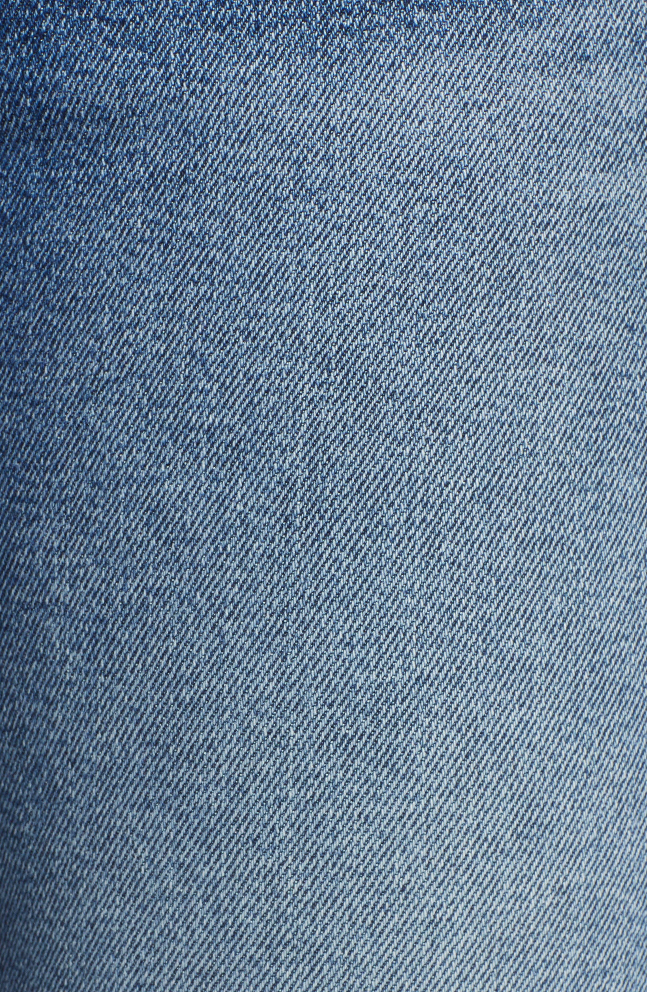 Luxe Vintage Roxanne Rip Hem Ankle Slim Jeans,                             Alternate thumbnail 6, color,                             401