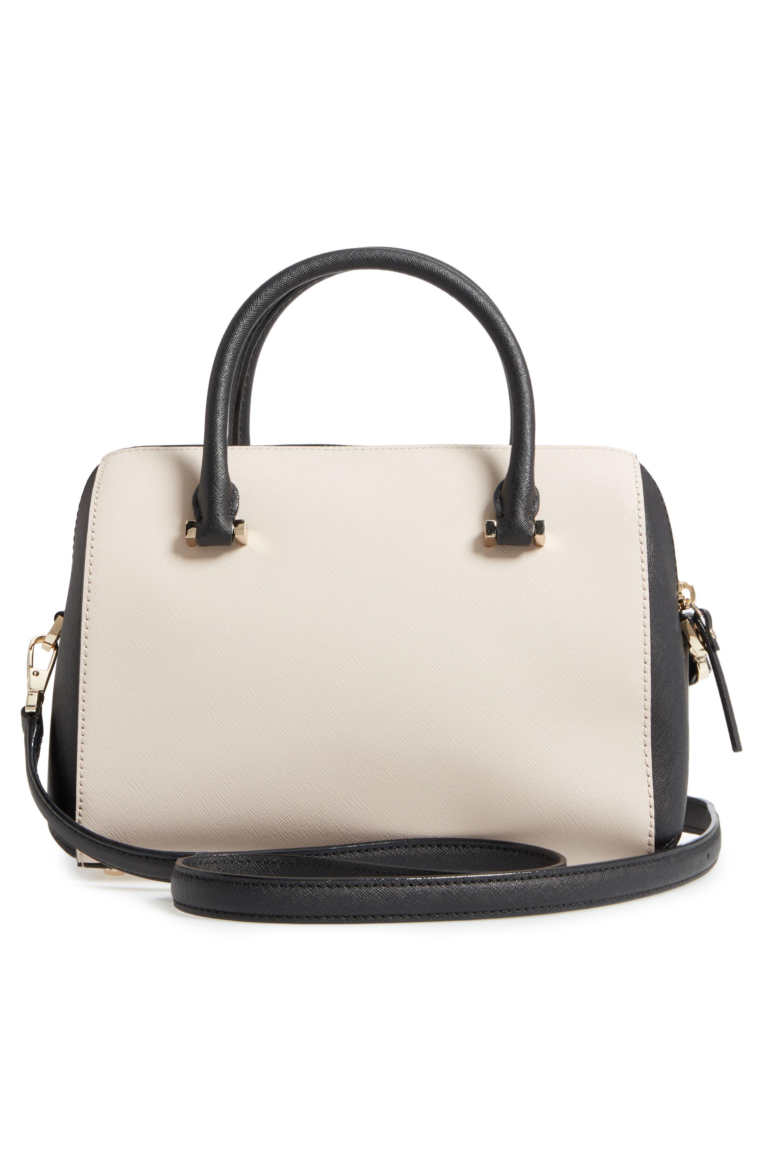cameron street large lane leather satchel,                             Alternate thumbnail 3, color,                             005