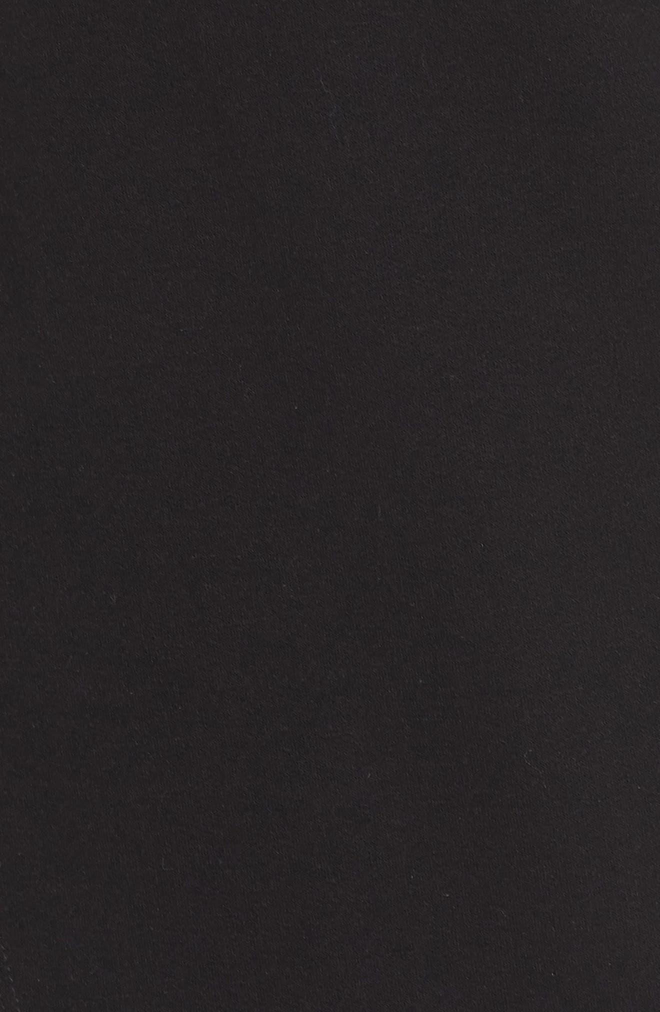 Off-Duty Fleece Knit Cardigan,                             Alternate thumbnail 6, color,                             001