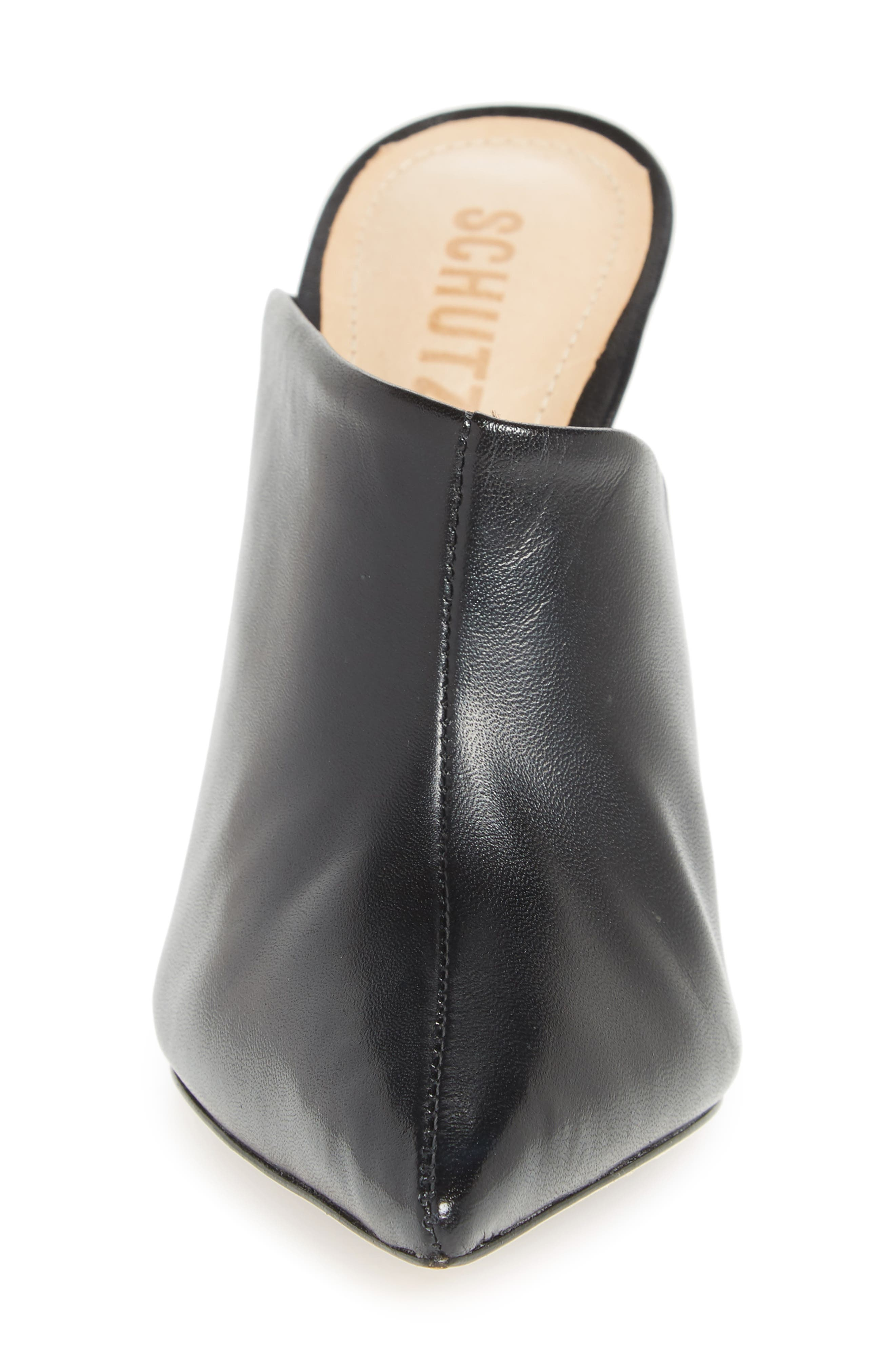 Quincy Stiletto Mule,                             Alternate thumbnail 4, color,                             BLACK
