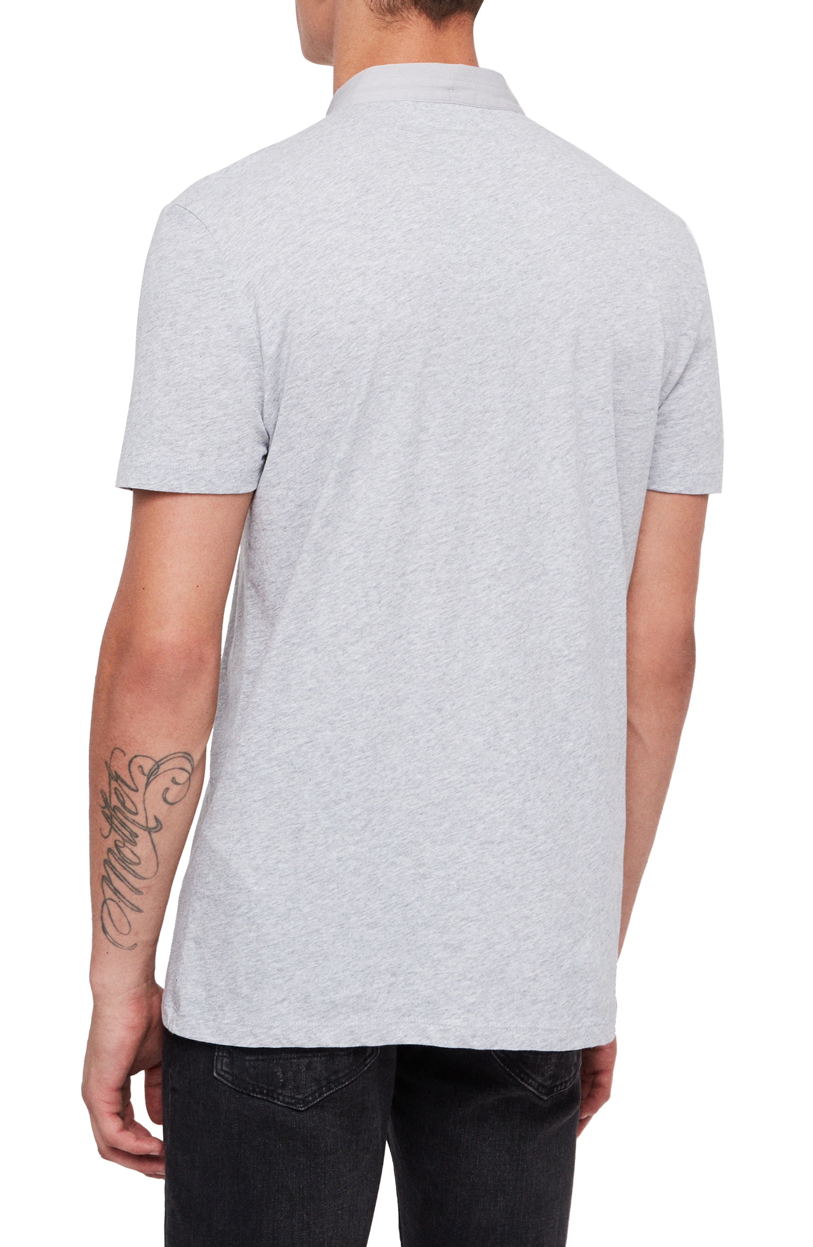 Grail Slim Fit Polo,                             Alternate thumbnail 2, color,                             GREY MARL