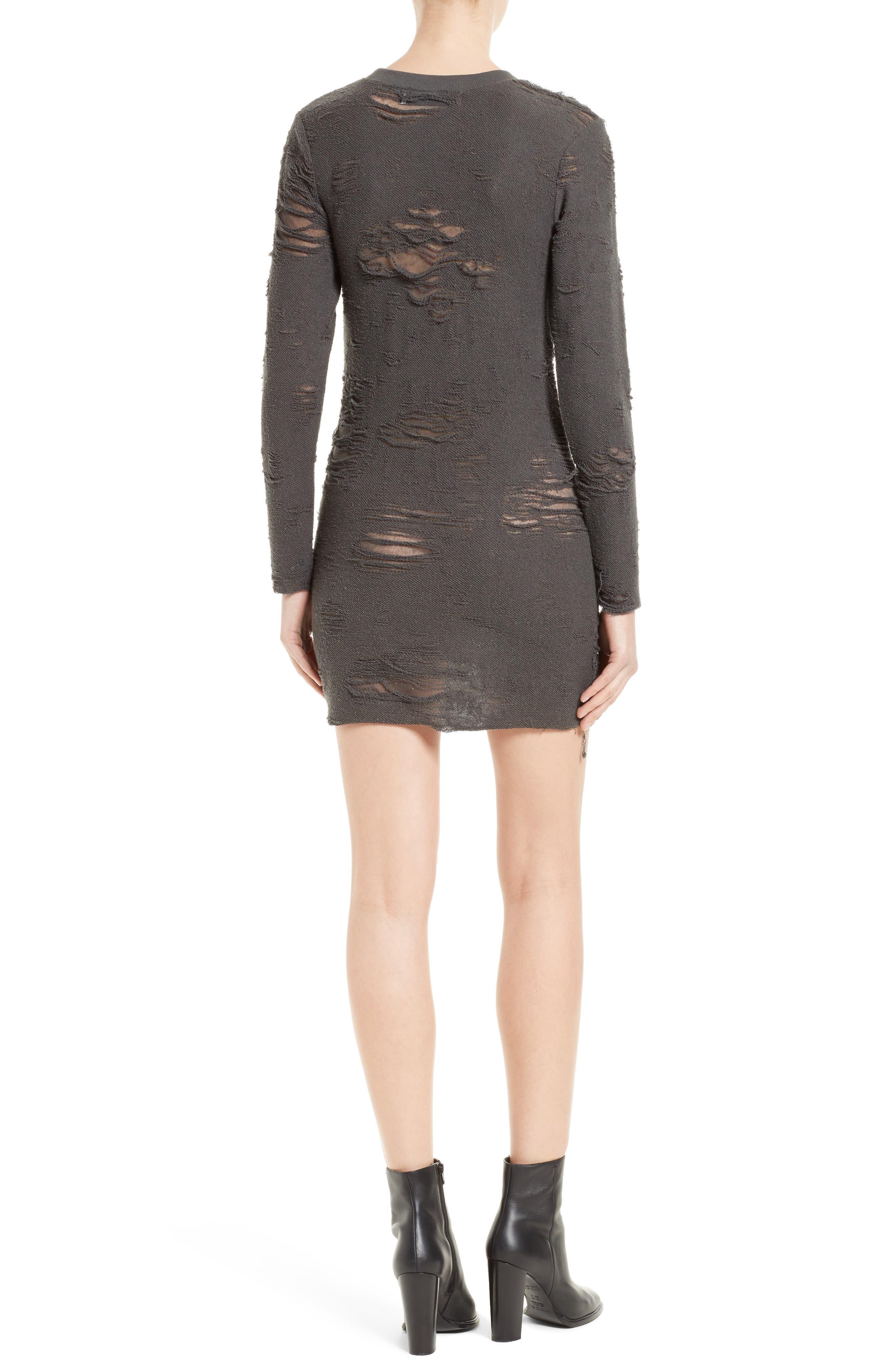 Cevoc Distressed Dress,                             Alternate thumbnail 2, color,                             029