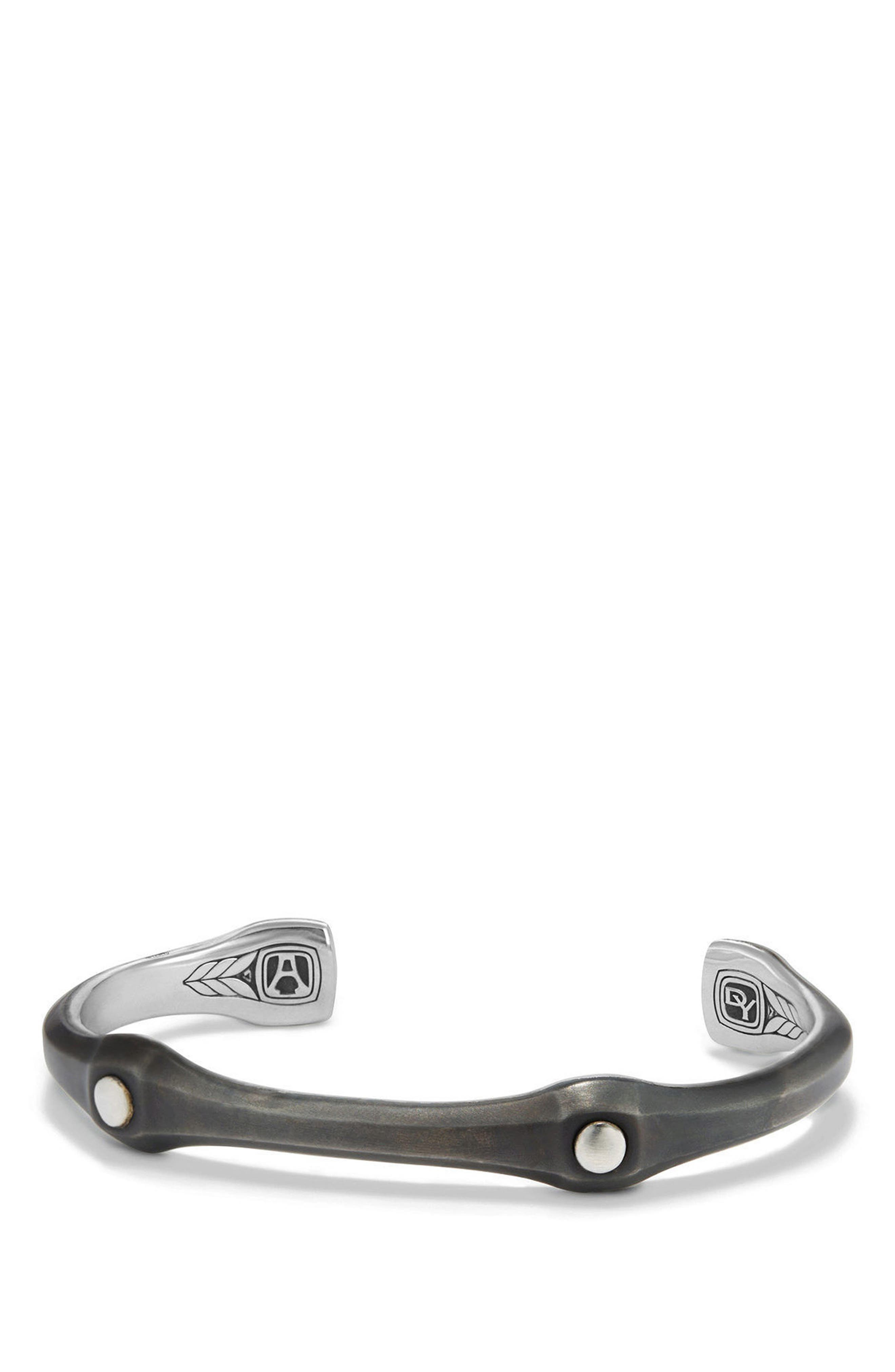 Anvil Cuff Bracelet, 10.5mm,                             Main thumbnail 1, color,                             SILVER/ STEEL