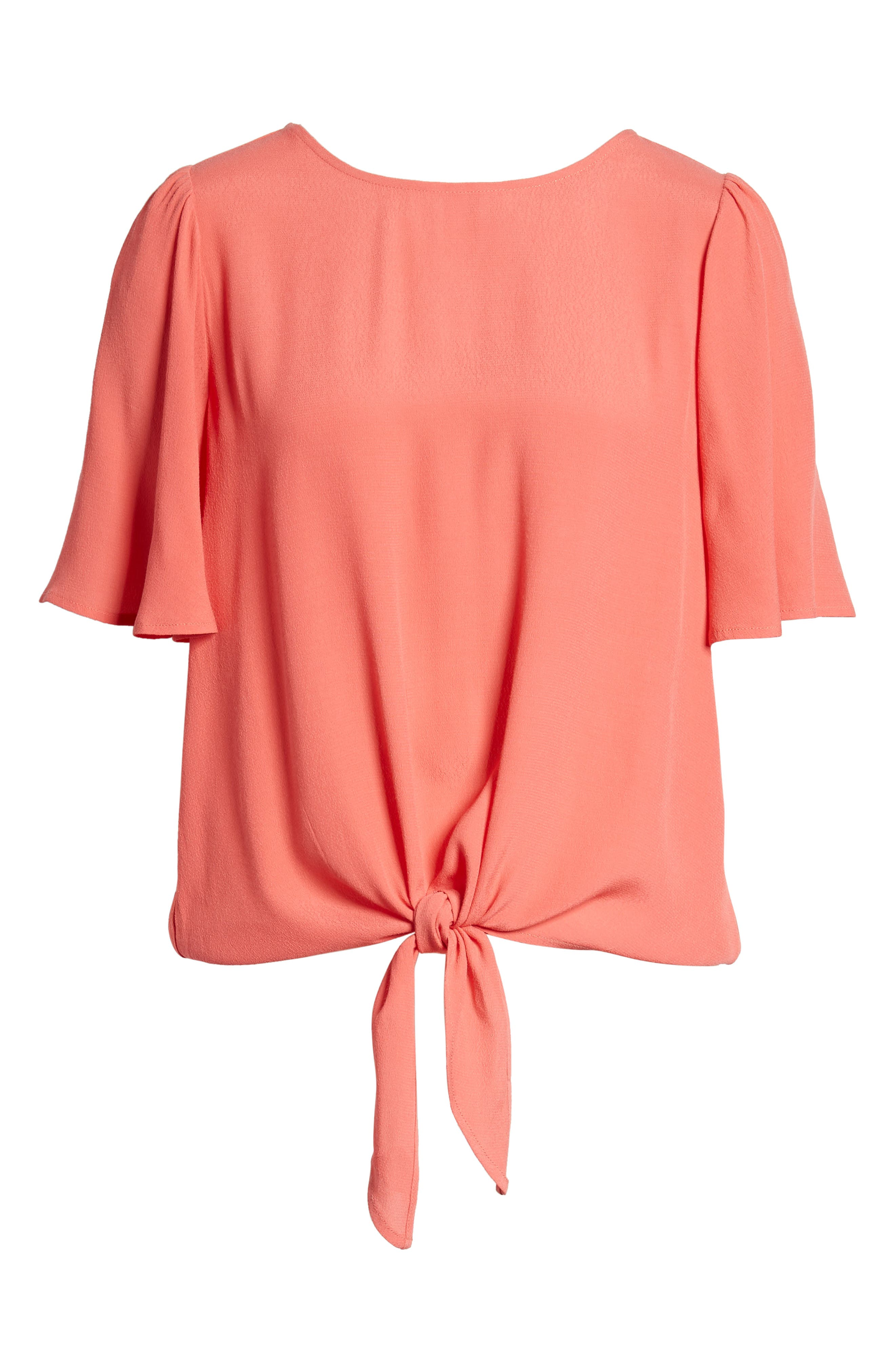 Ruffle Tie Front Top,                             Alternate thumbnail 25, color,