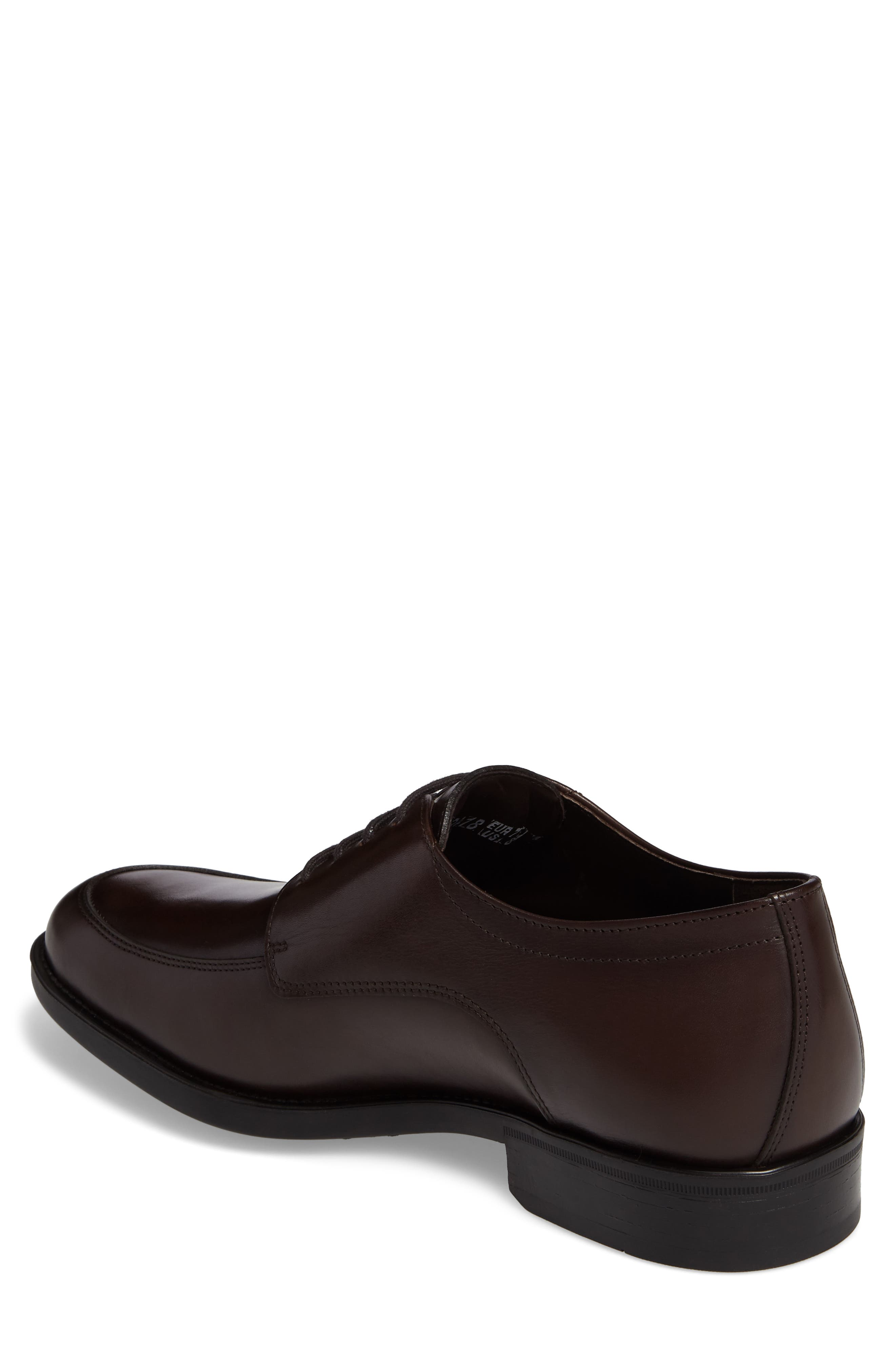 Carlo Moc Toe Derby,                             Alternate thumbnail 2, color,                             DARK BROWN LEATHER