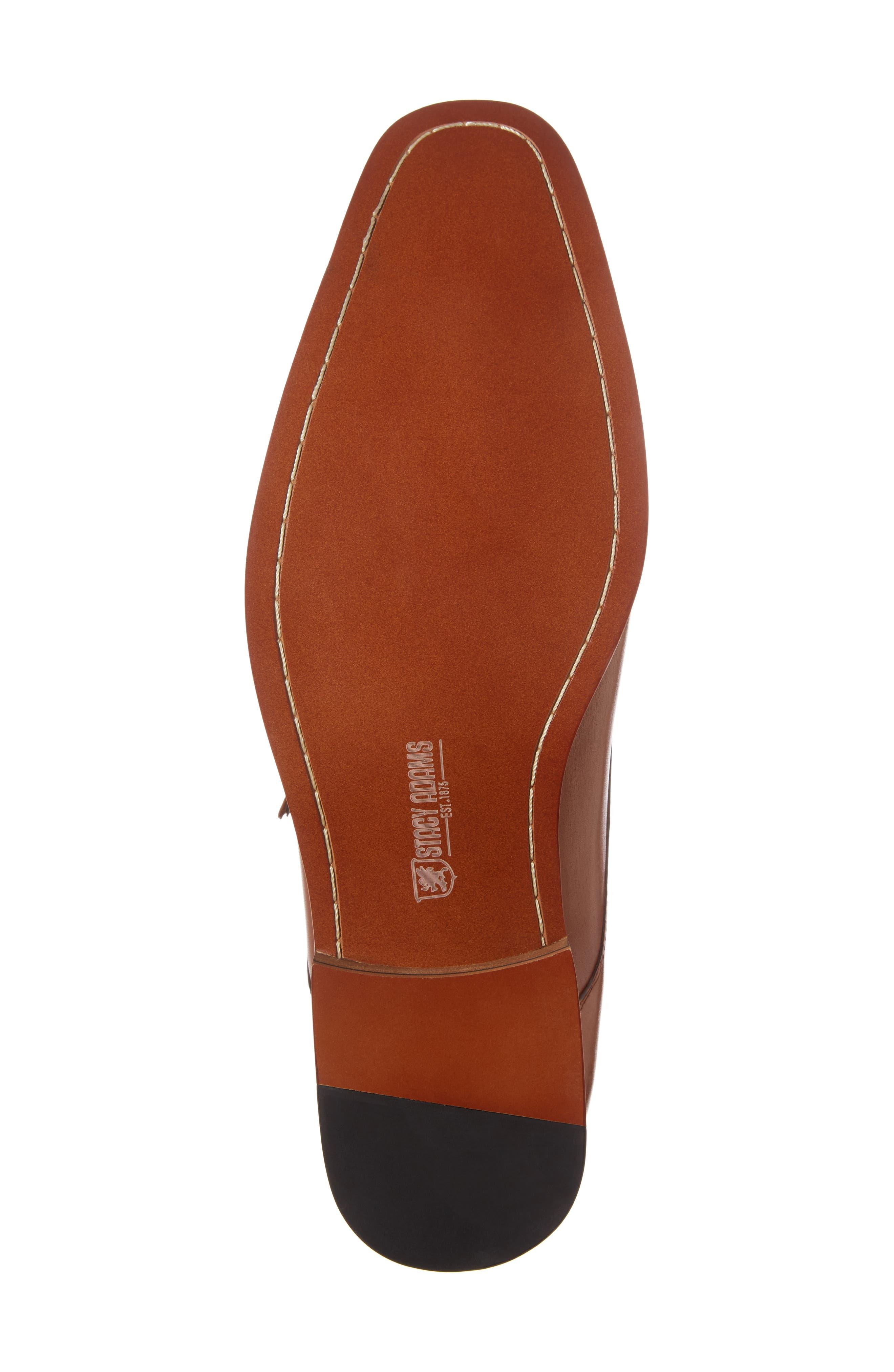 Kimball Monk Strap Shoe,                             Alternate thumbnail 6, color,                             SADDLE TAN LEATHER