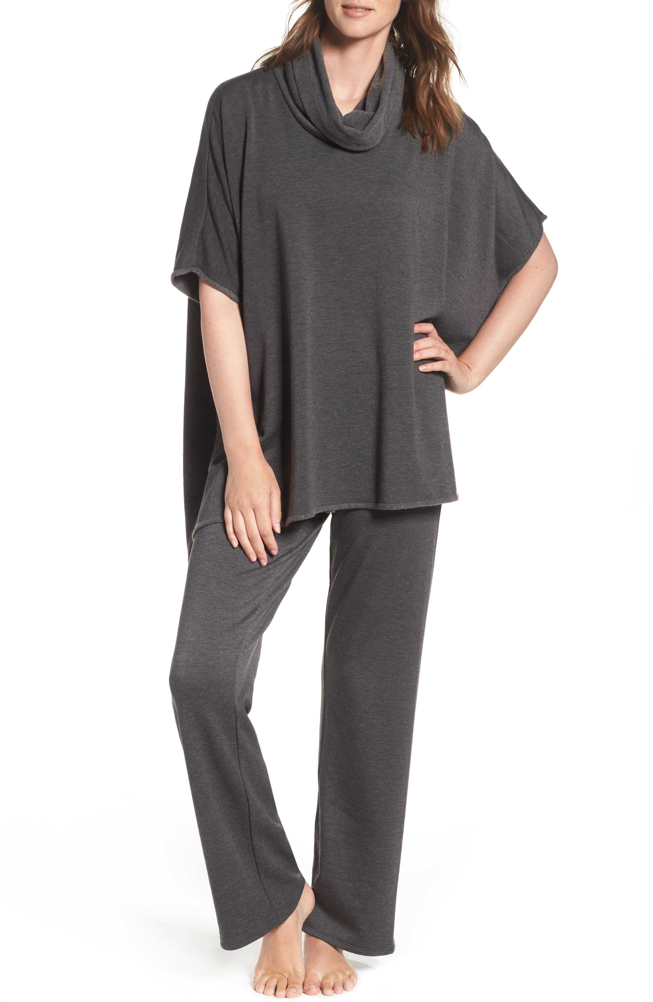 Brushed Jersey Poncho,                             Alternate thumbnail 13, color,