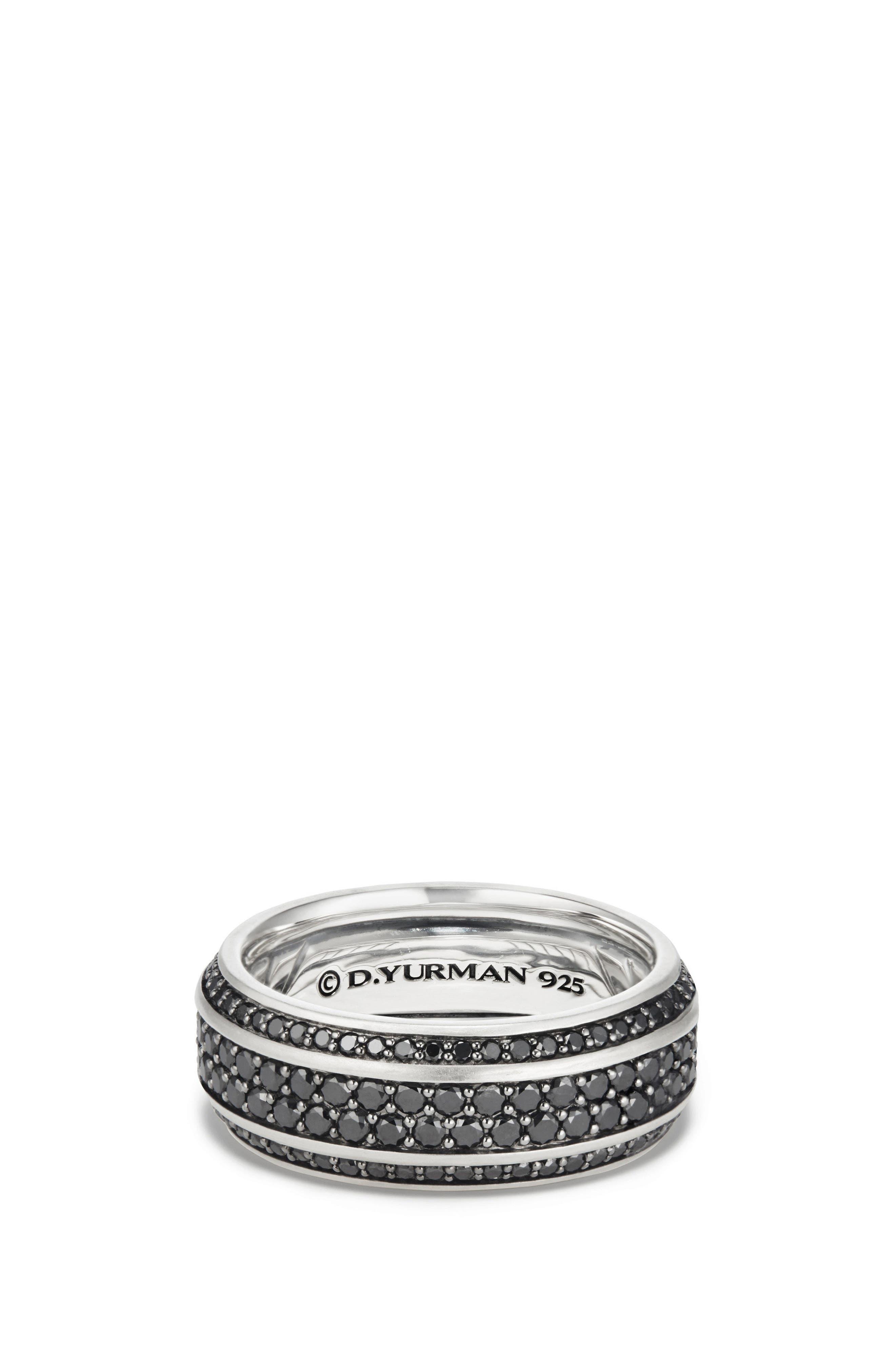 Streamline Beveled Edge Band Ring,                         Main,                         color, BLACK DIAMOND