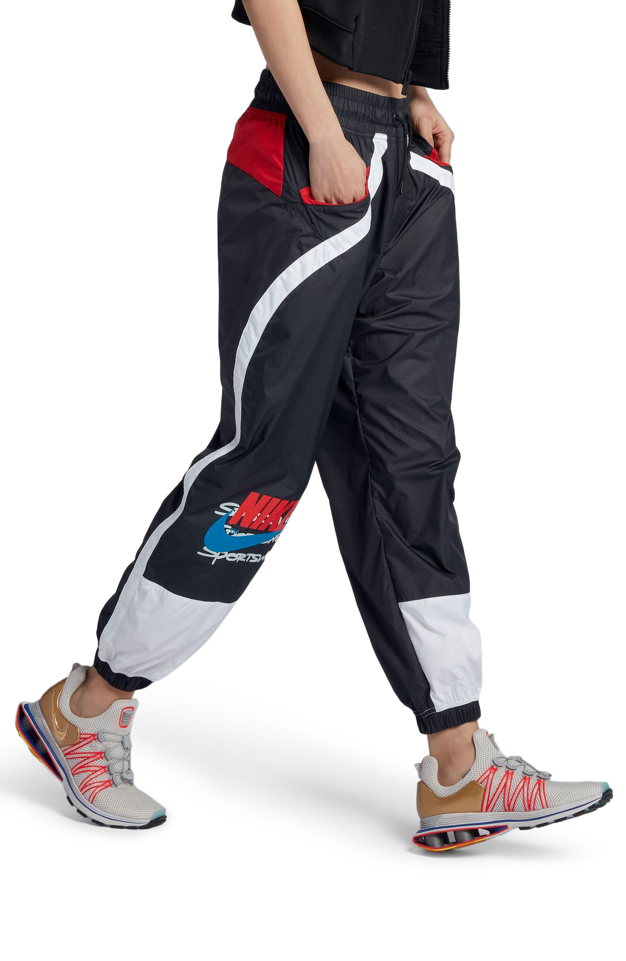 Sportswear Women's Woven Moto Pants,                             Alternate thumbnail 3, color,